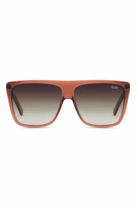 Quay Australia x Desi Perkins 'On the Low' 60mm Oversize Square Sunglasses