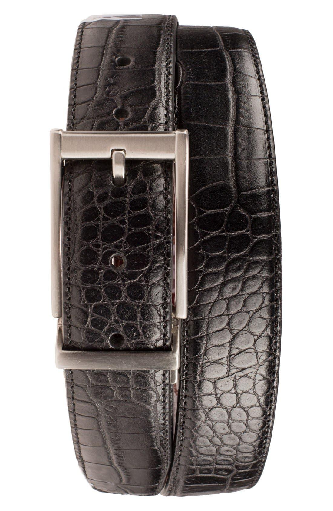 Alternate Image 1 Selected - Nike Reversible Leather Belt