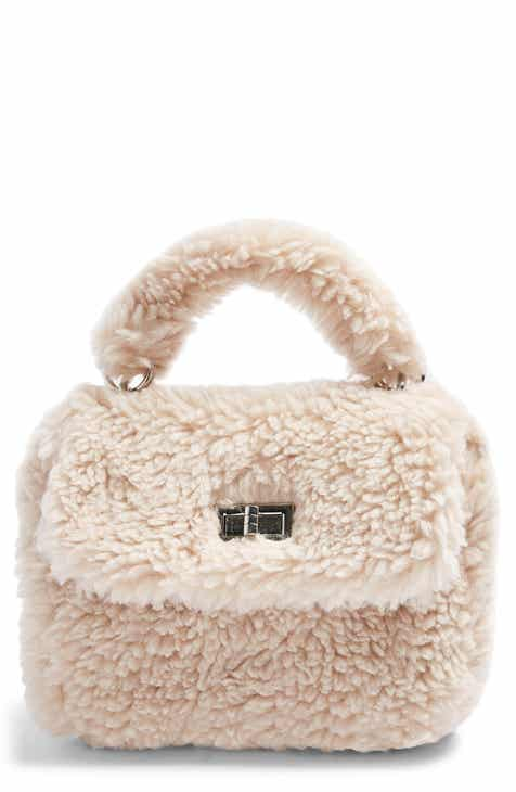 Topshop Faux Shearling Crossbody Bag