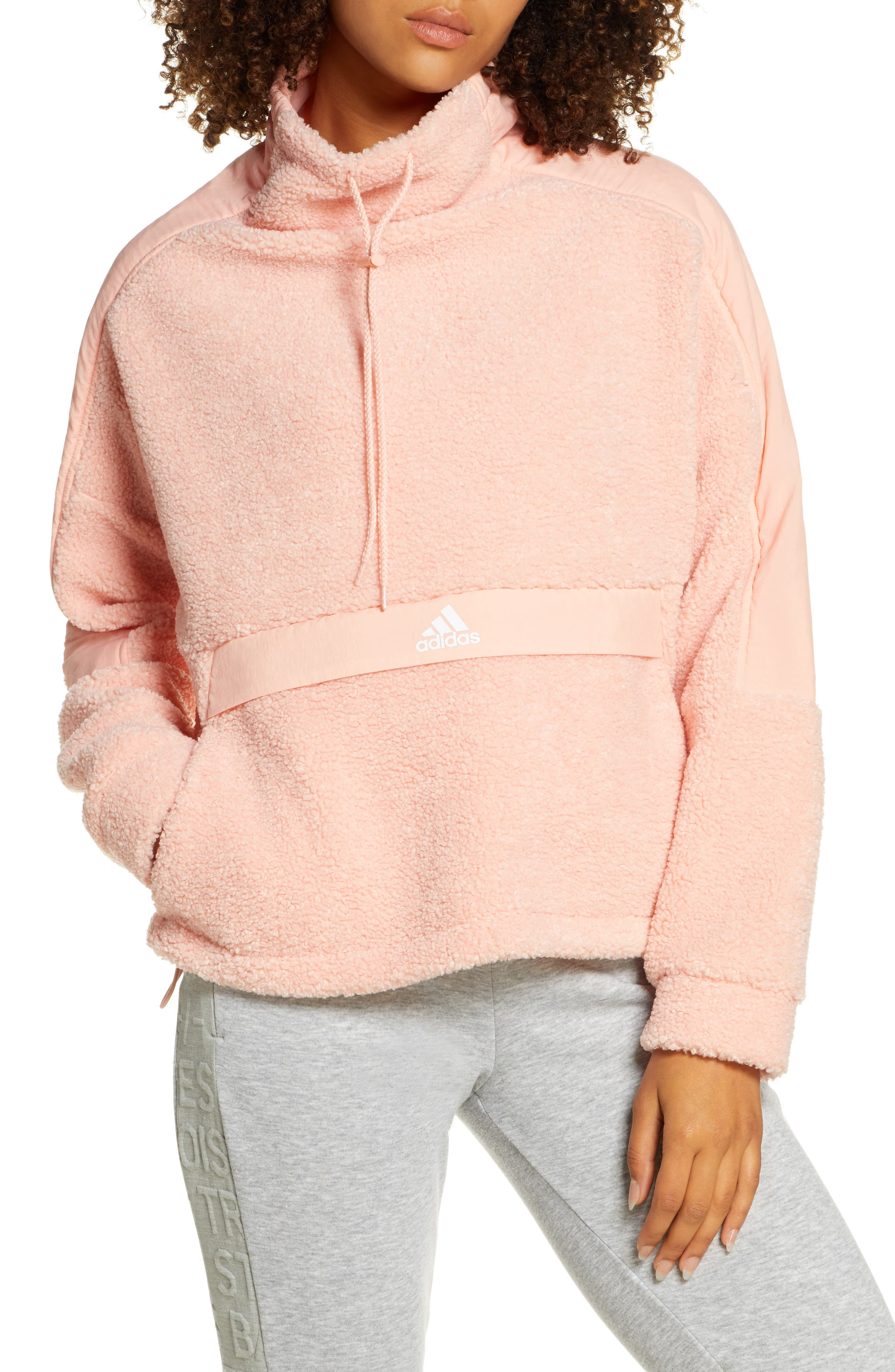 Adidas Womens 10 M L Pink Hoodie Sport Jacket Tracksuit