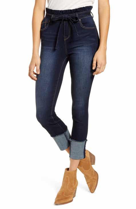 1822 Denim Paperbag Waist Skinny Crop Jeans (Raquel)