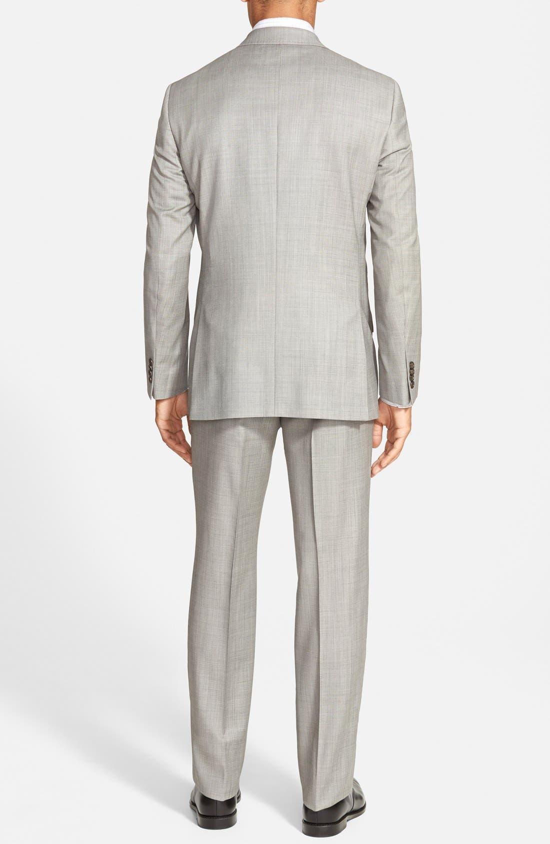 Jones Trim Fit Wool Suit,                             Alternate thumbnail 2, color,                             Medium Grey