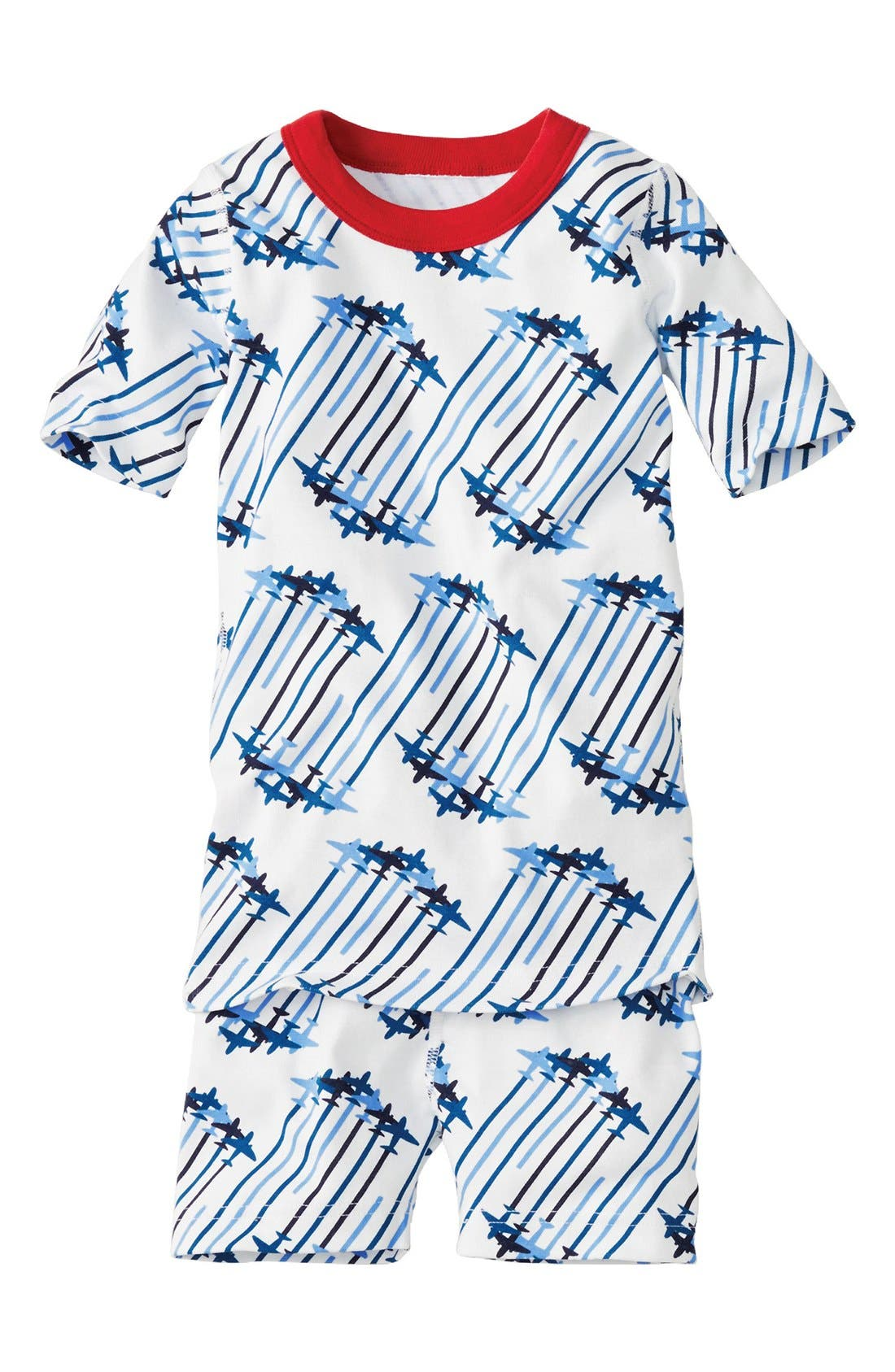 Alternate Image 1 Selected - Hanna Andersson Organic Cotton Two-Piece Fitted Pajamas (Toddler Boys, Little Boys & Big Boys)
