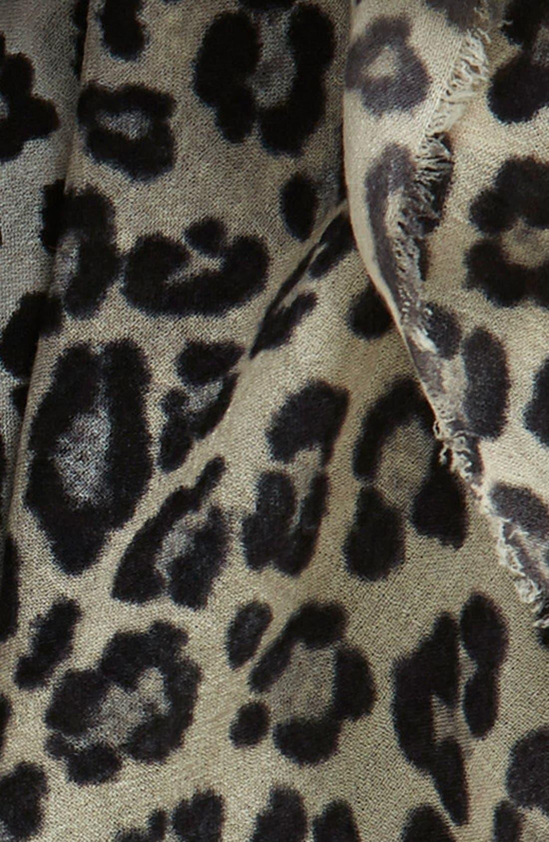 Alternate Image 3  - Nordstrom 'Luxe Animal' Challis Scarf