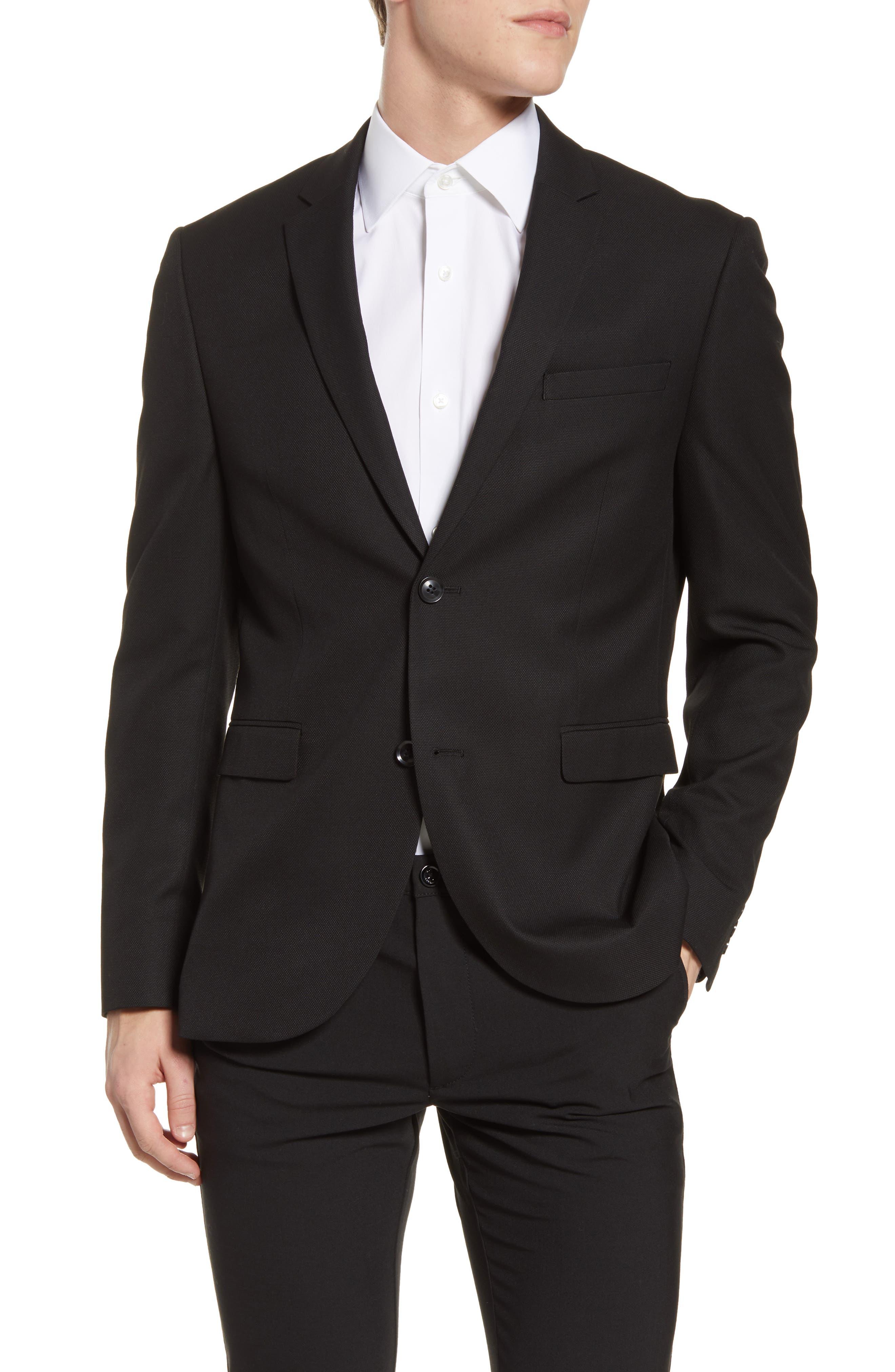 Size 44S Jacket /& 37S Pants Formal Dress Wedding Men/'s Black Tuxedo Prom