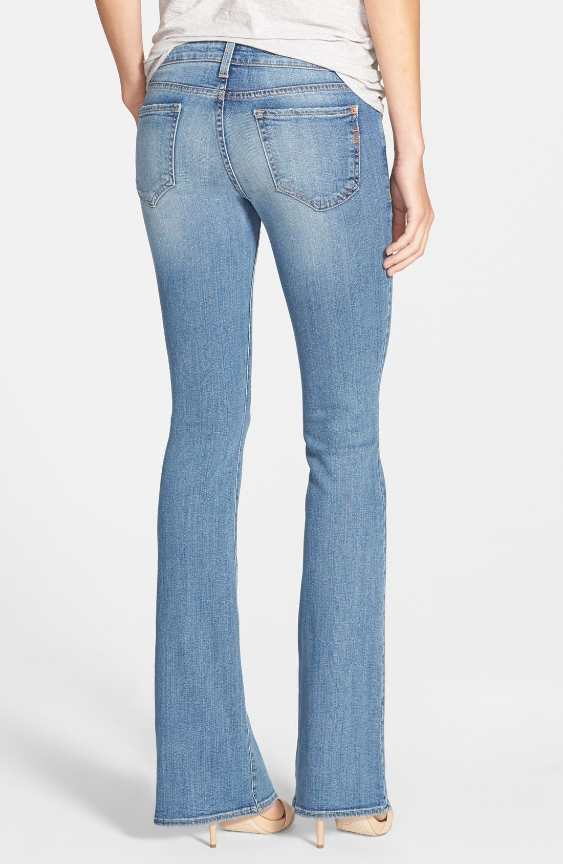Alternate Image 2  - Genetic 'Leaf' Low Rise Flare Jeans (Canyon)