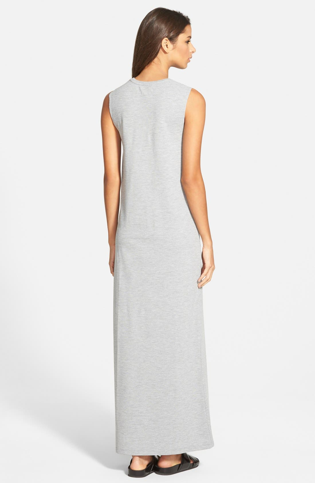 Alternate Image 2  - Native Youth Sleeveless Side Slit Maxi Dress