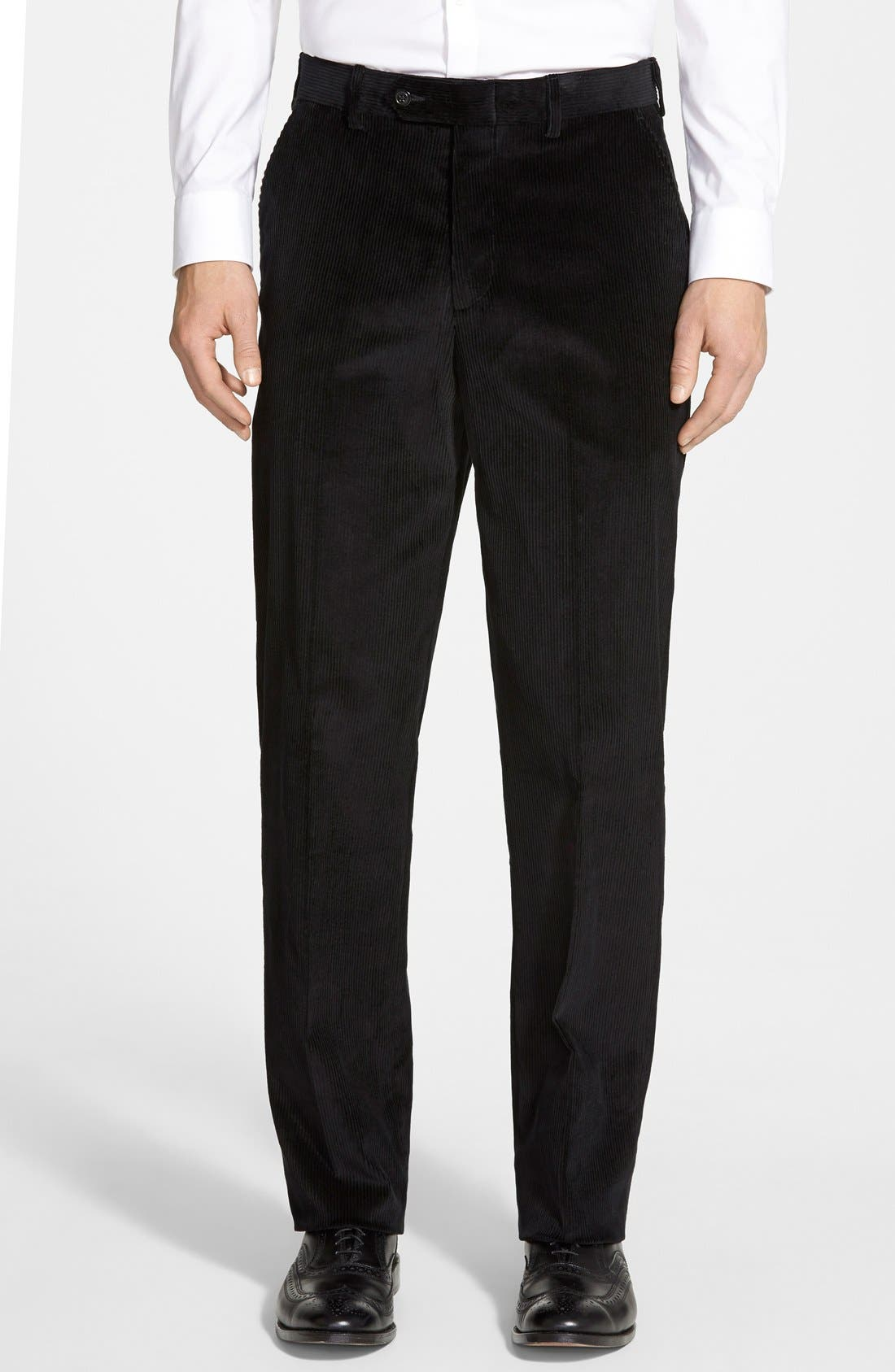 Main Image - Berle Flat Front Corduroy Trousers
