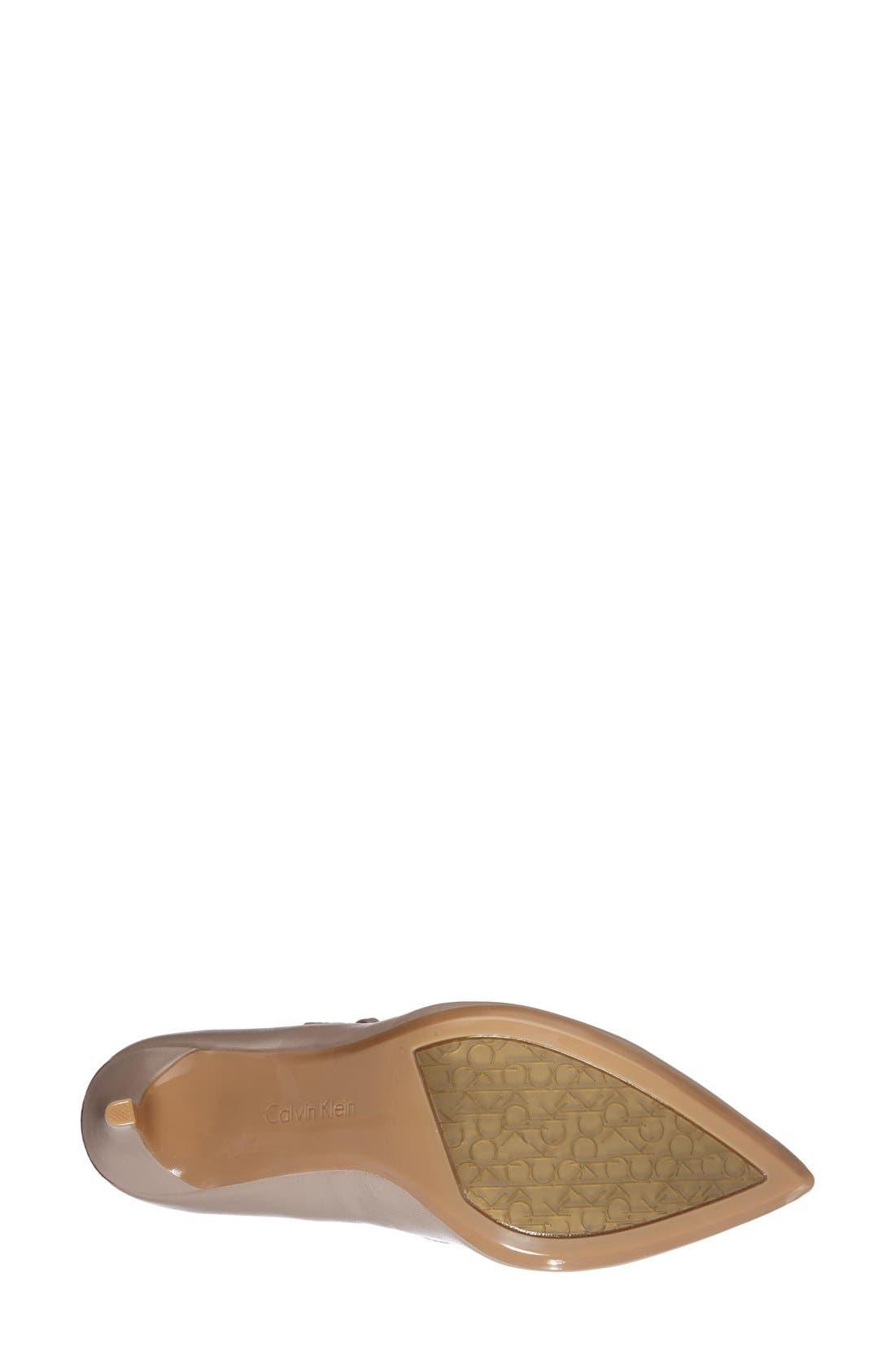 Alternate Image 4  - Calvin Klein 'Genavee' Pointy Toe Pump (Women)