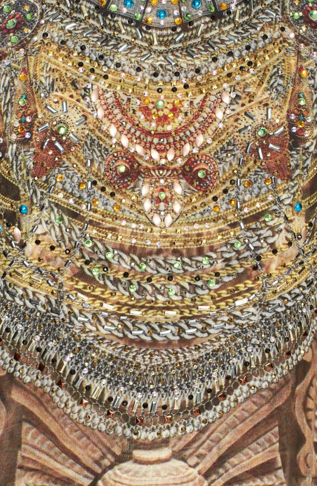 Alternate Image 3  - Camilla 'Time Among the Gods' Crystal Embellished Print Silk Maxi Dress