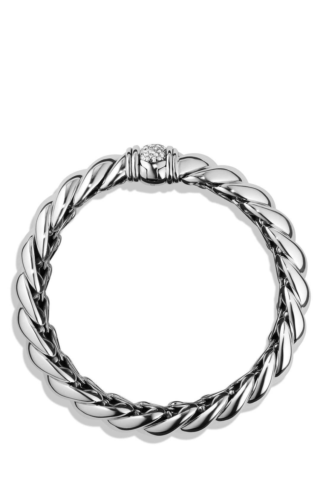 Alternate Image 1 Selected - David Yurman 'Hampton' Bracelet with Diamonds