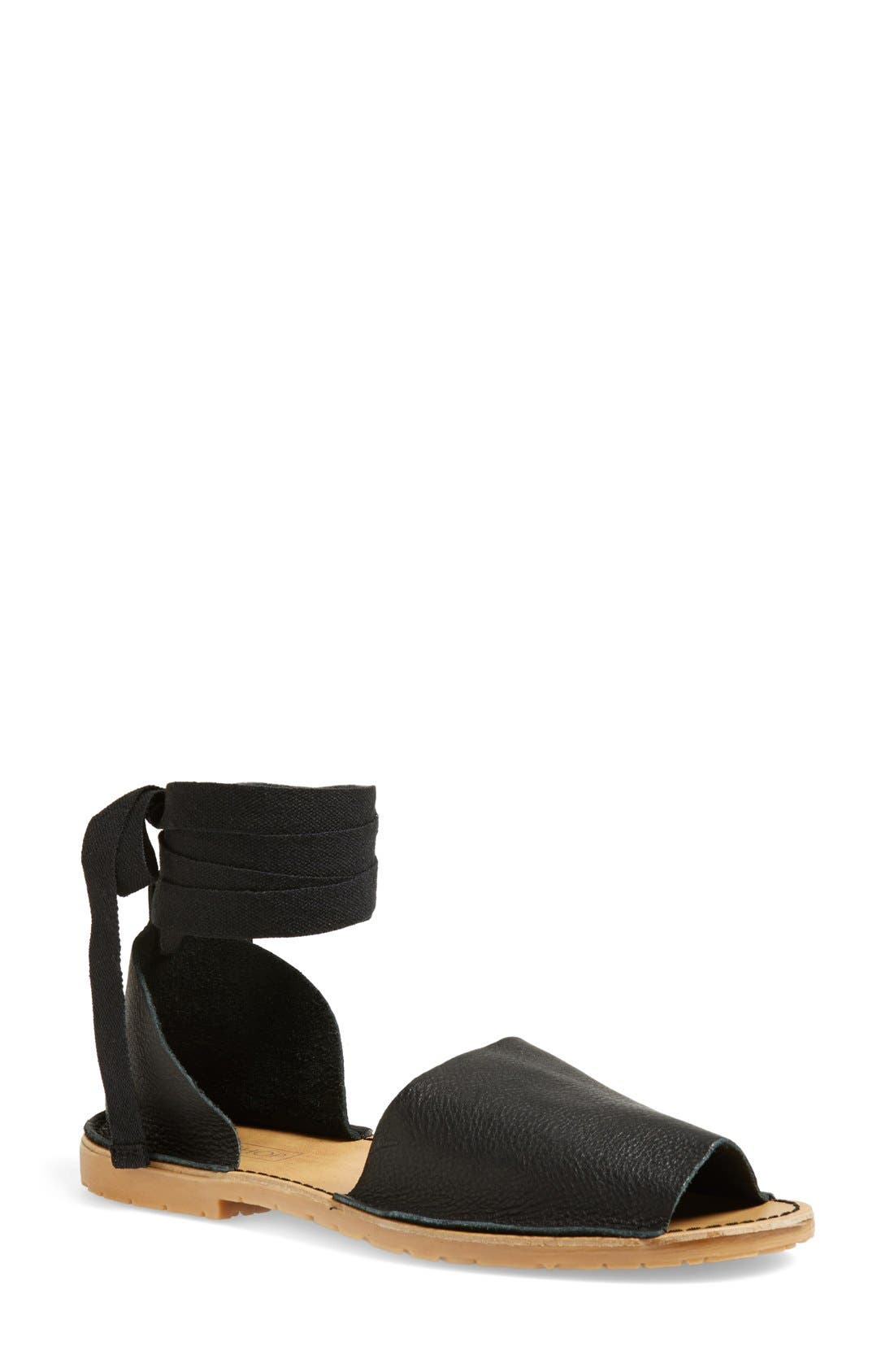 Alternate Image 1 Selected - Topshop 'Feline' Wraparound Ankle Strap Sandal (Women)