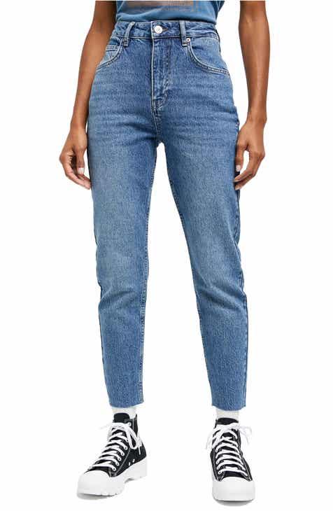 BDG Urban Outfitters Edie High Waist Raw Hem Skinny Jeans (Mid Vintage)