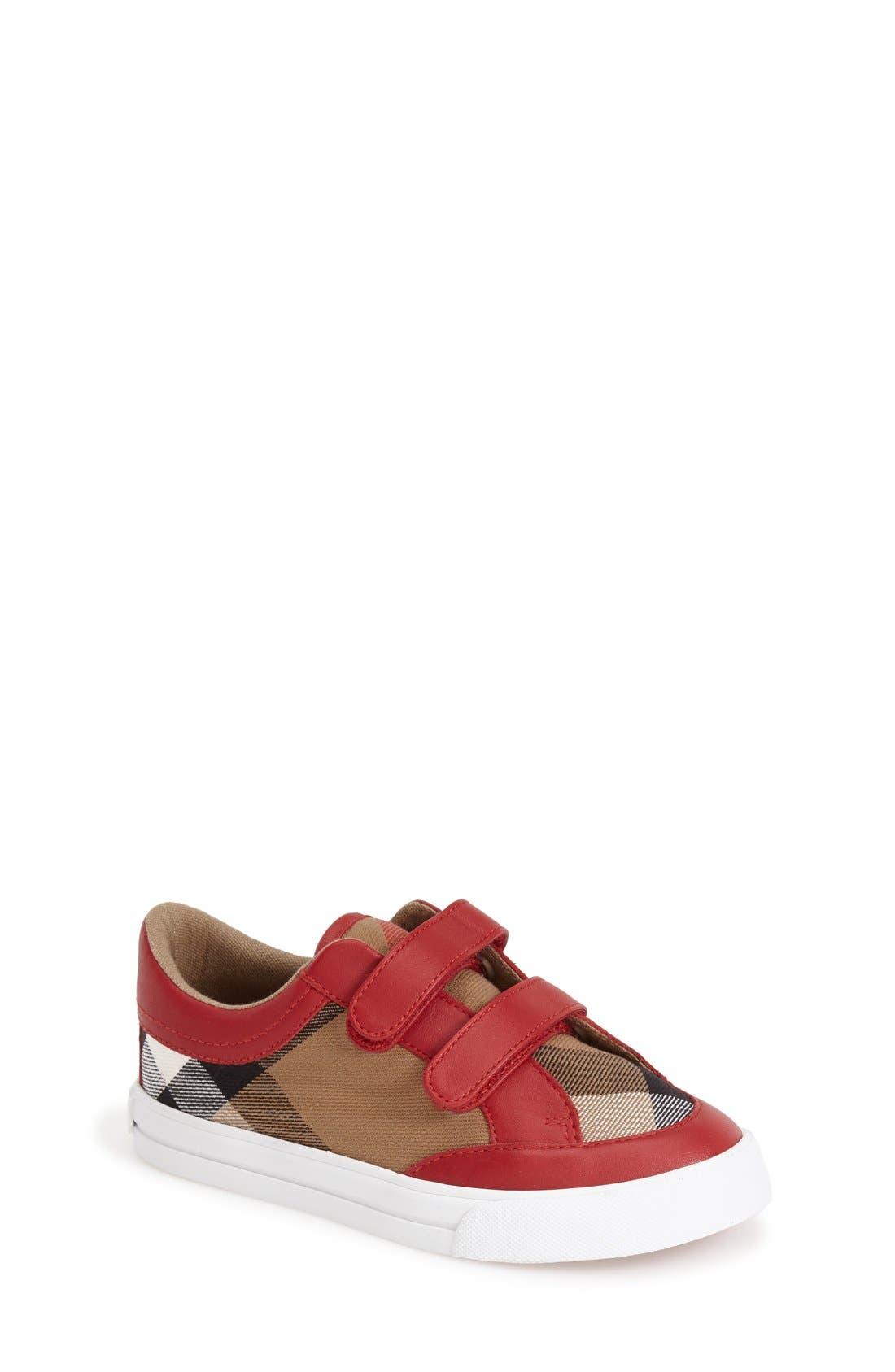 Mini Heacham Sneaker,                             Main thumbnail 1, color,                             Parade Red