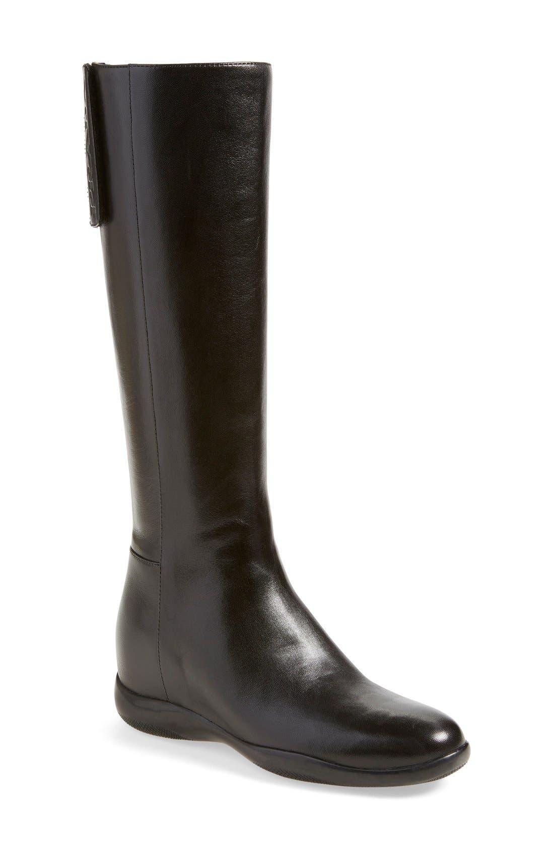 Main Image - Prada Leather Tall Boot