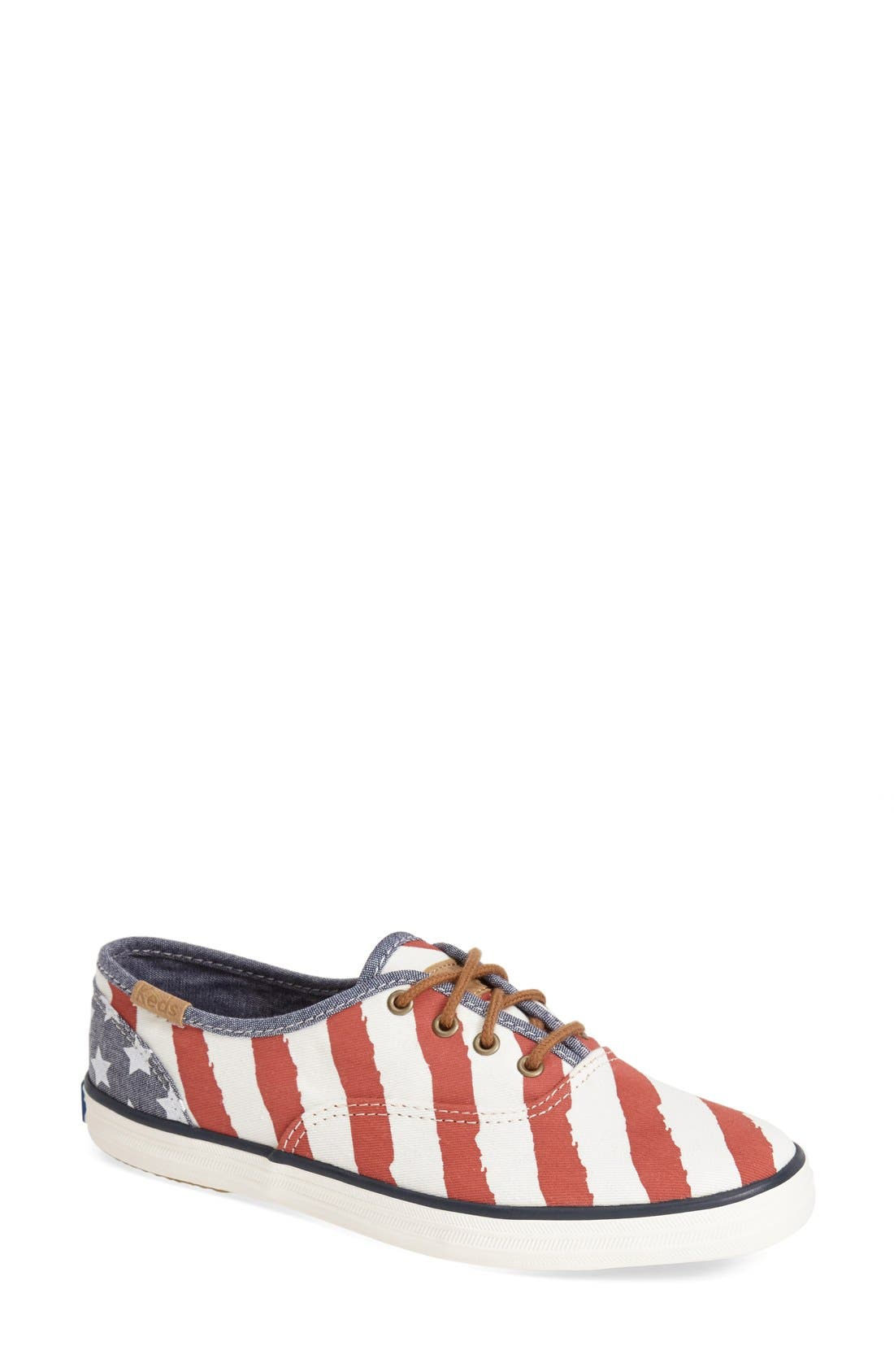 'Champion - Patriotic' Sneaker,                             Main thumbnail 1, color,                             Red/ Cream