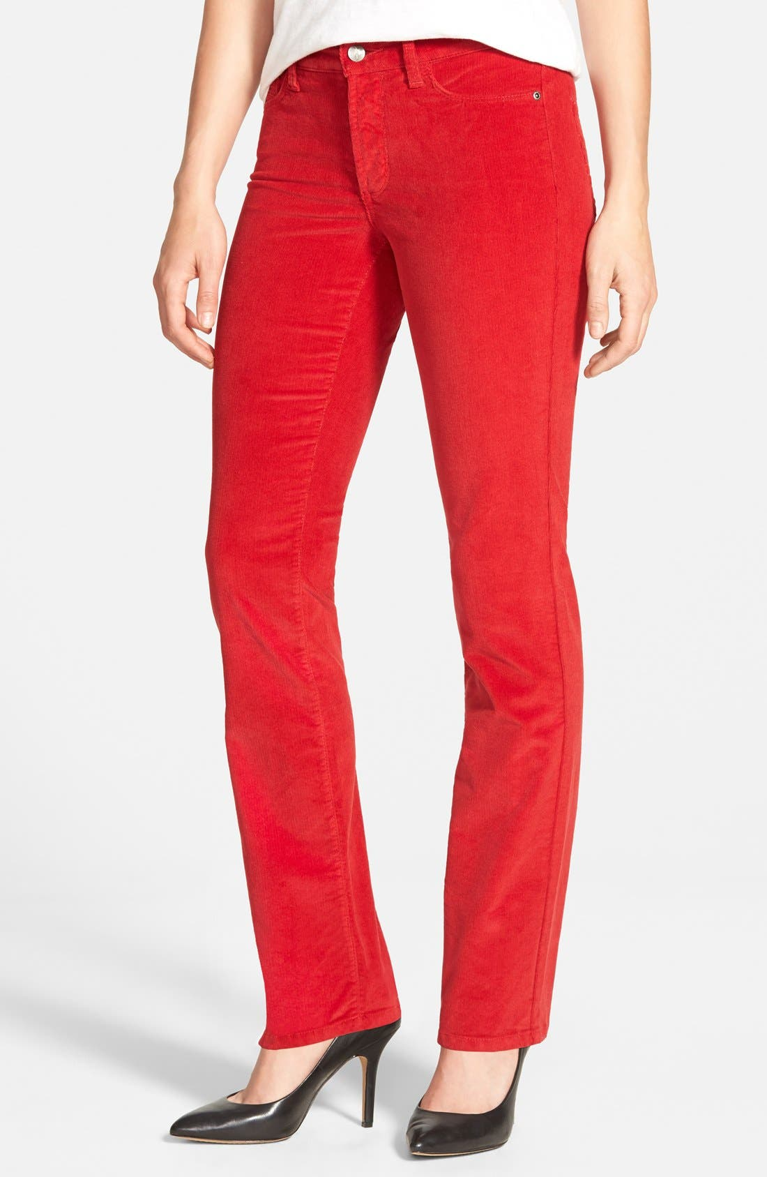 Alternate Image 1 Selected - NYDJ 'Marilyn' Stretch Straight Leg Corduroy Pants (Regular & Petite)
