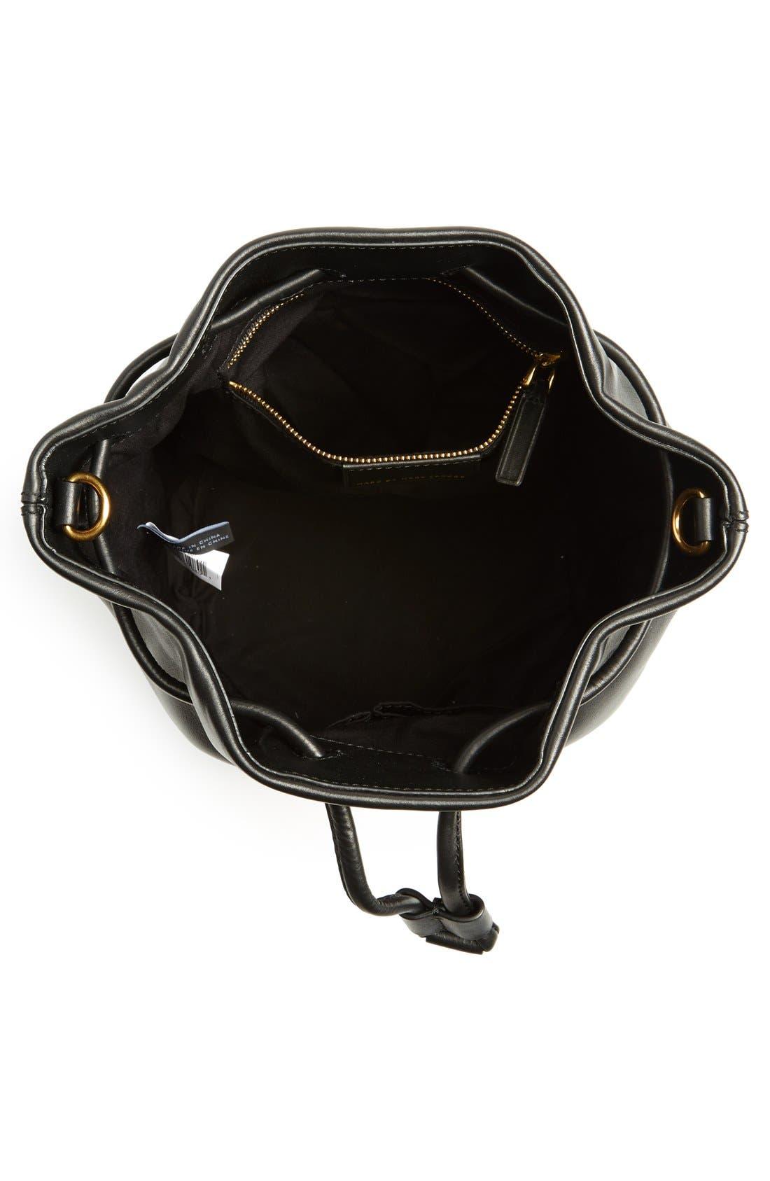 Alternate Image 4  - MARC BY MARC JACOBS 'Luna' Leather Drawstring Bucket Bag