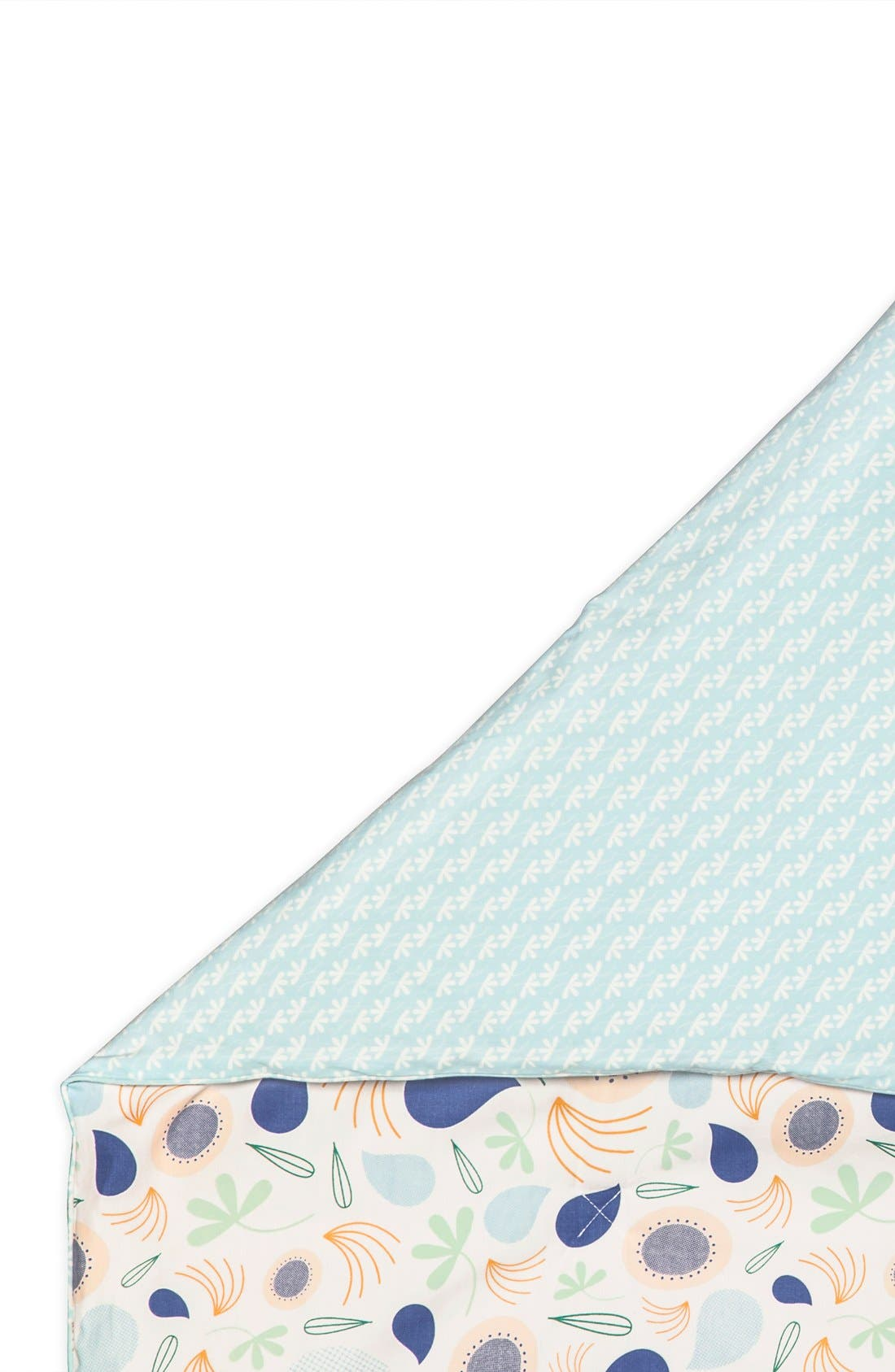 'Flora' Crib Sheet, Crib Skirt, Changing Pad Cover, Blanket & Wall Decals,                             Alternate thumbnail 4, color,                             Blue
