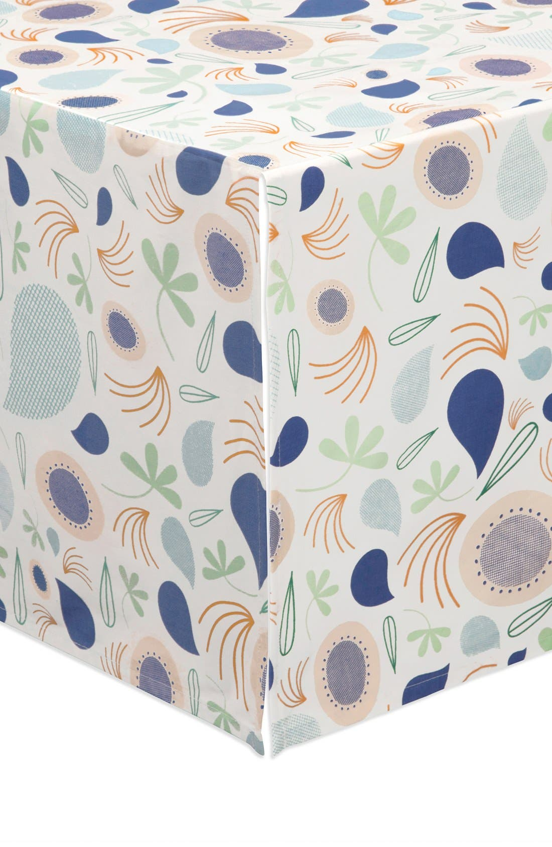 'Flora' Crib Sheet, Crib Skirt, Changing Pad Cover, Blanket & Wall Decals,                             Alternate thumbnail 8, color,                             Blue