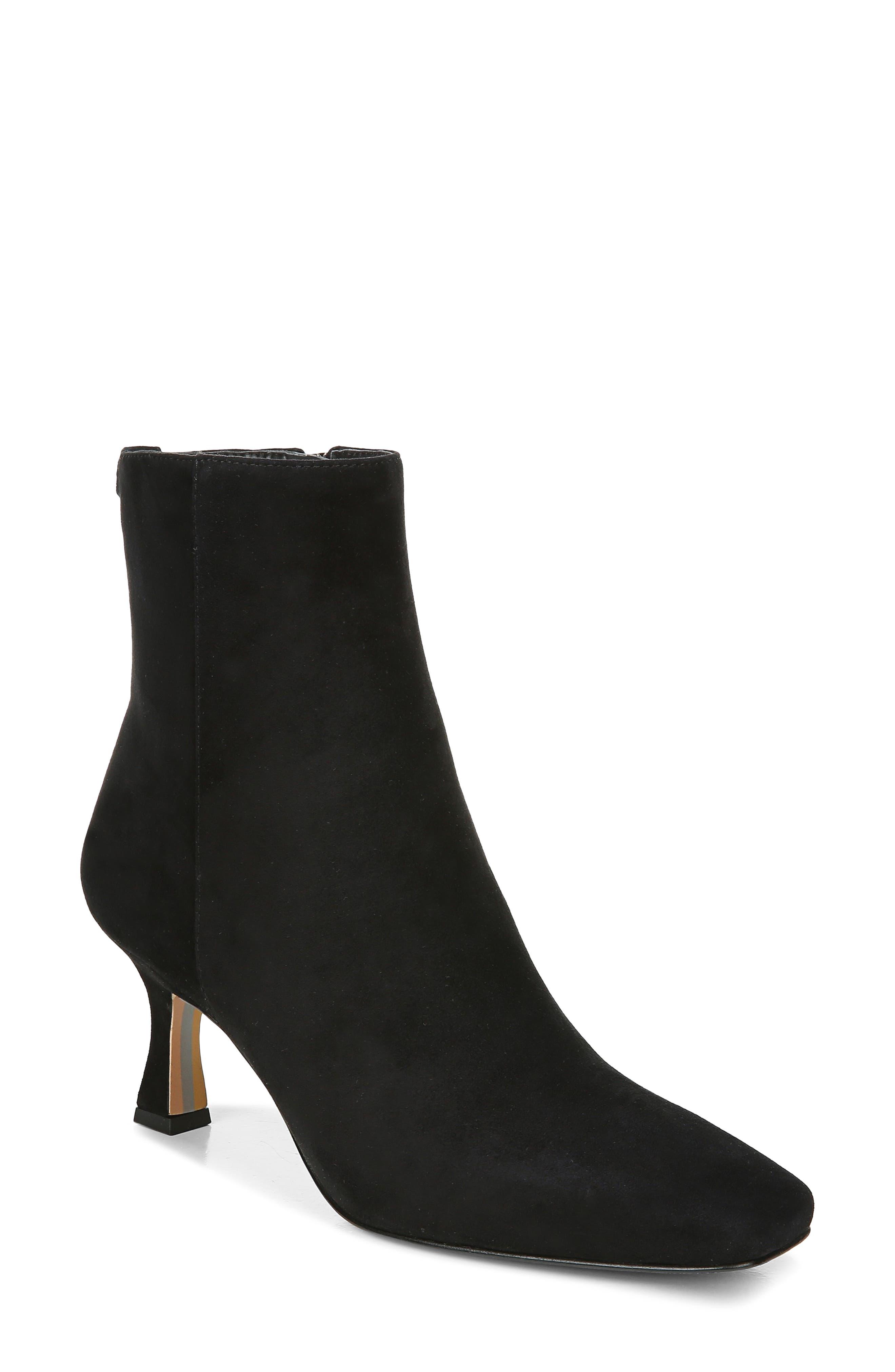 Angel Rhinestone Embellished Mid Calf Low Heel Round Toe Fashion Boots Pazzle