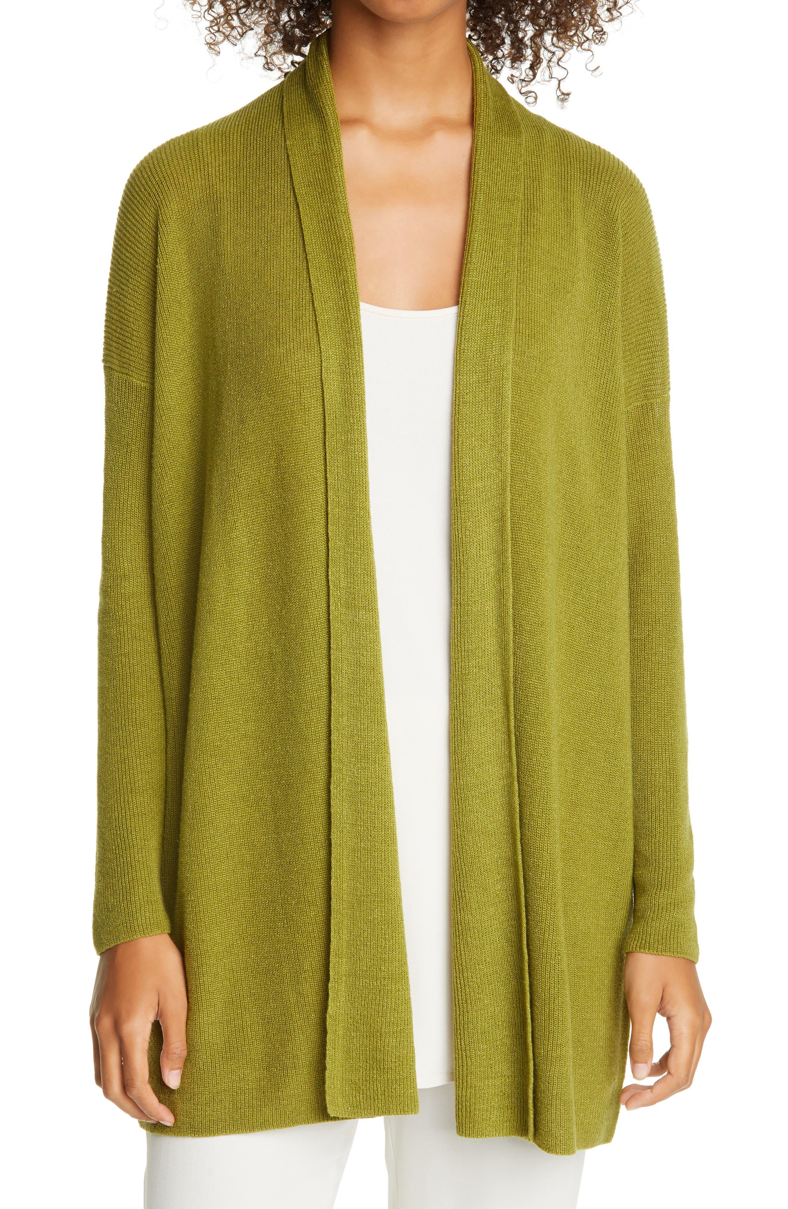 Eileen Fisher Women/'s Long Sleeve Blouse Blazer Sweater Size M,L Organic Line
