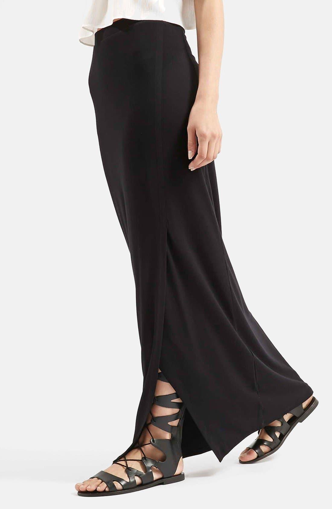 Main Image - Topshop Slit Maxi Skirt