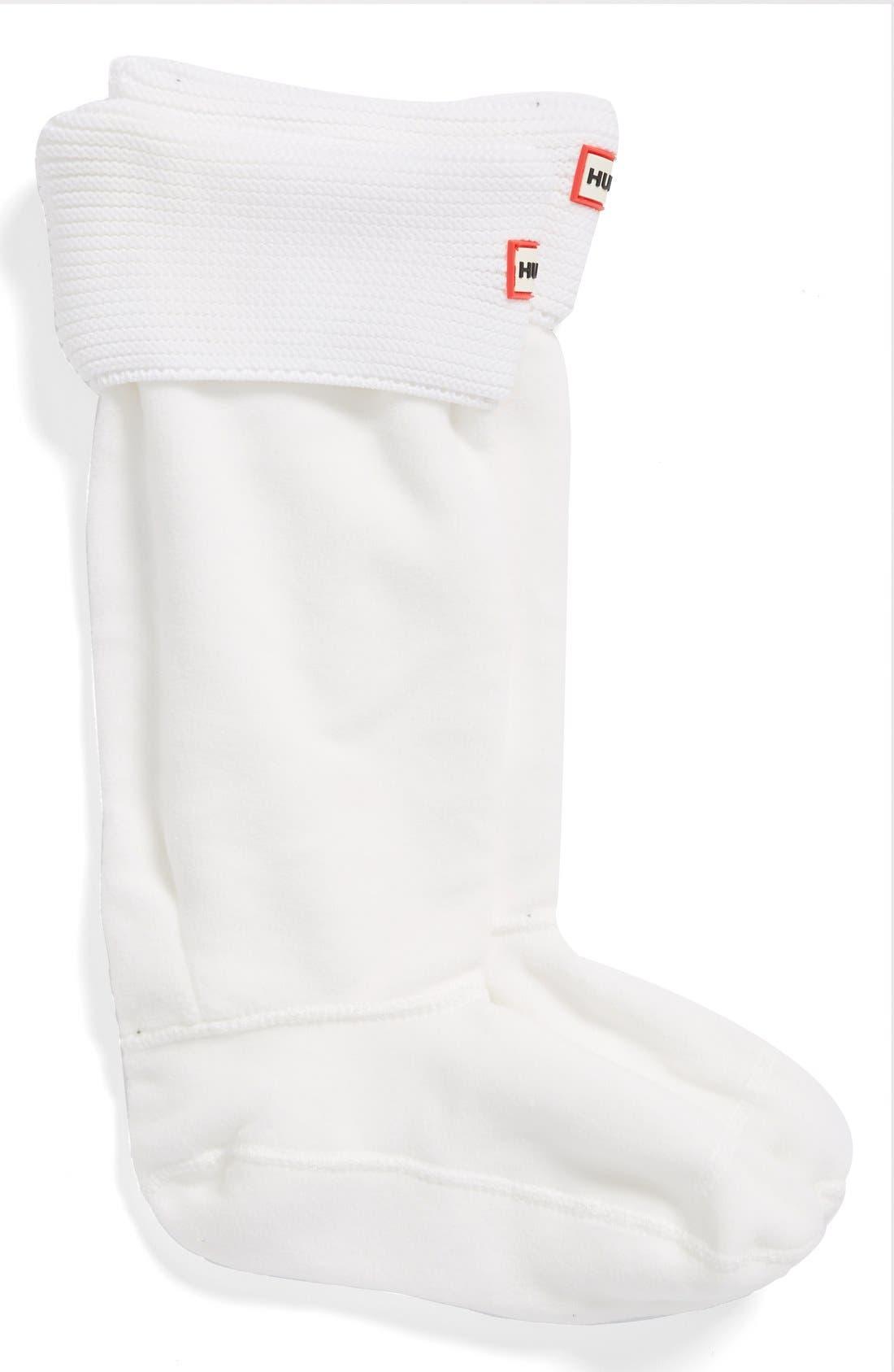 Alternate Image 2  - Hunter 'Garter Cuff' Fleece Boot Socks  (Nordstrom Exclusive)