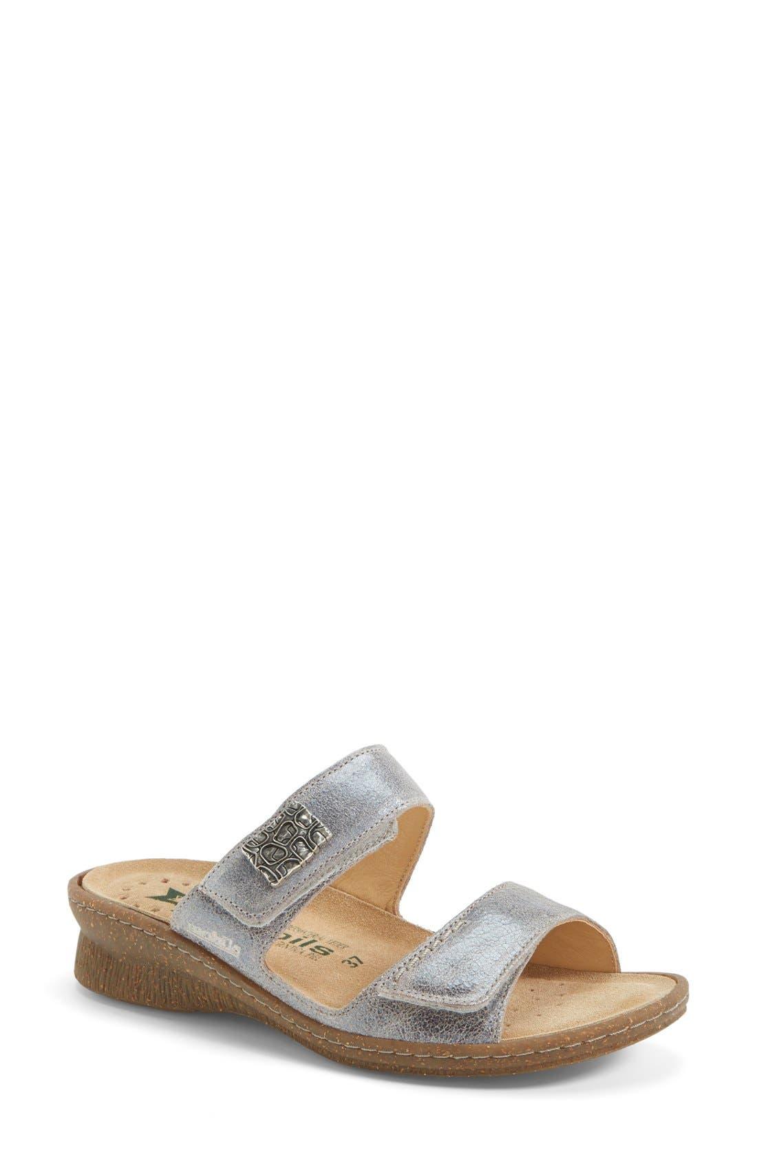 Main Image - Mephisto 'Bregalia' Metallic Leather Sandal (Women)