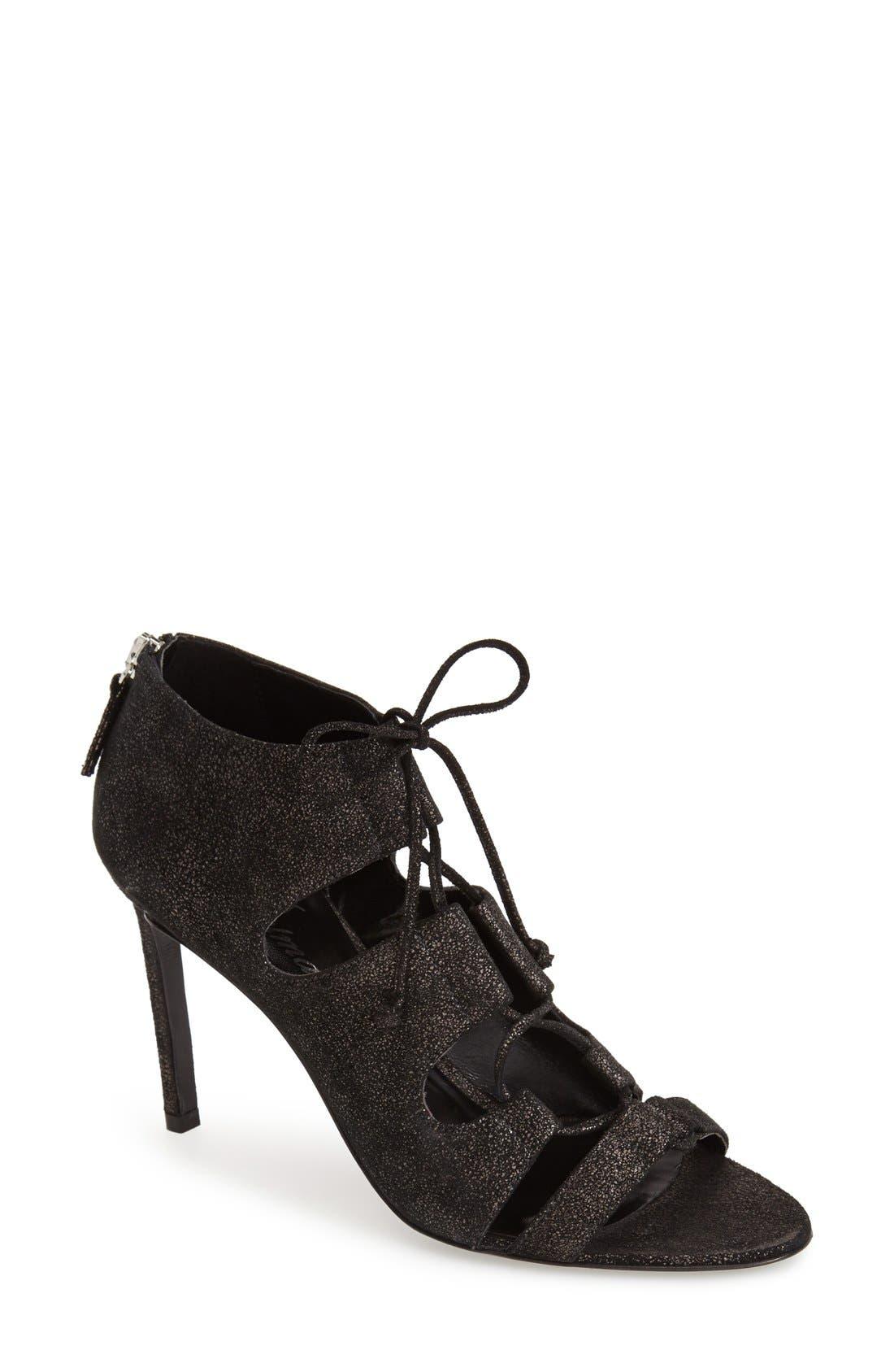 Alternate Image 1 Selected - Delman 'Jolie' Lace-Up Sandal (Women)