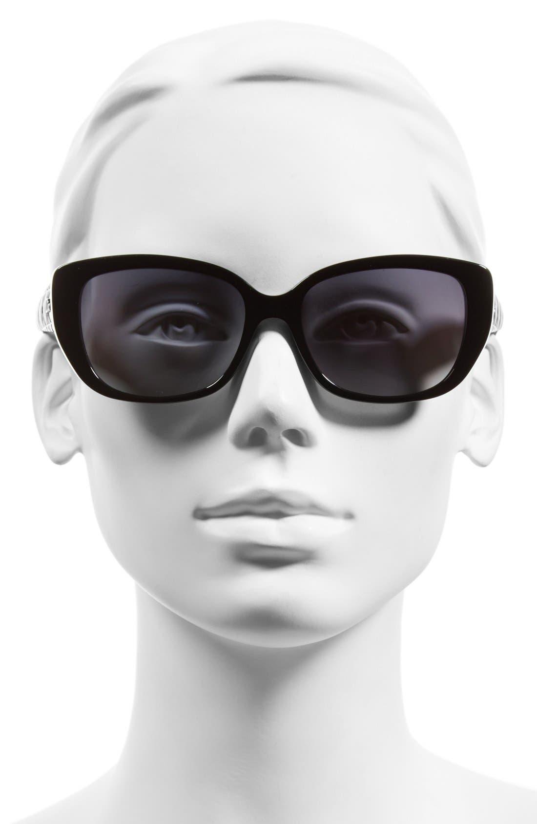 Alternate Image 2  - Dior Lady 55mm Cat Eye Sunglasses