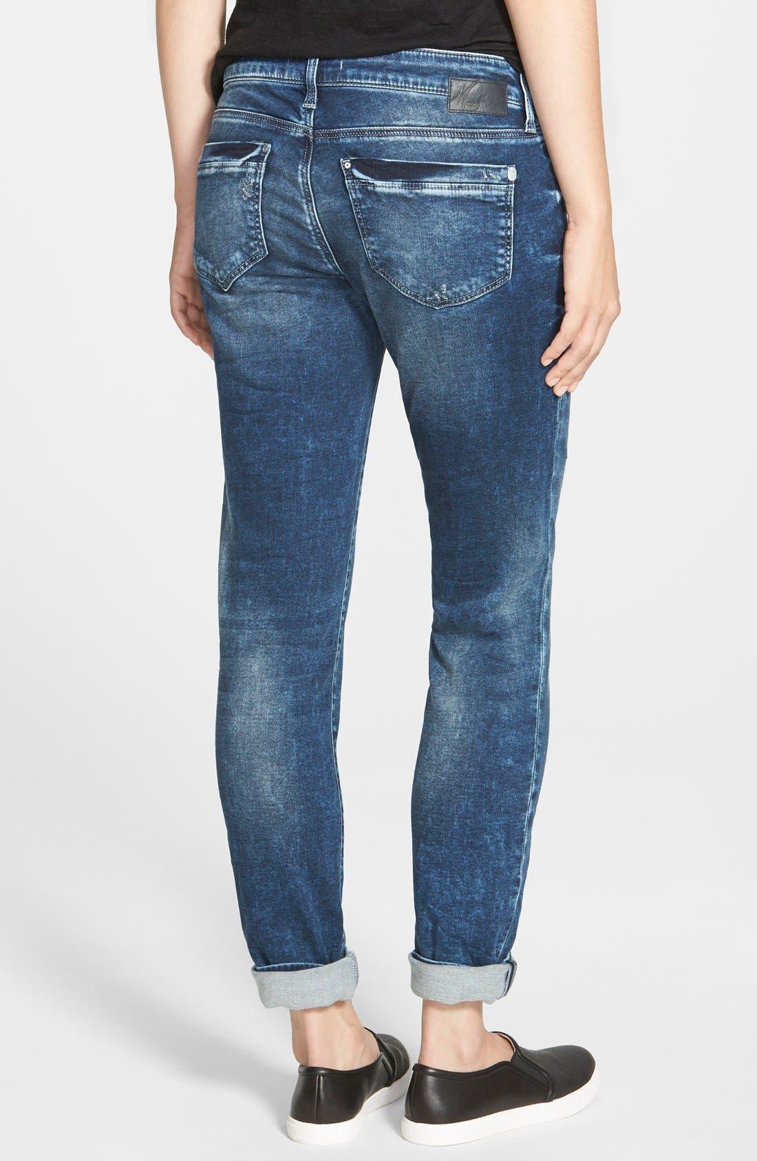 Alternate Image 2  - Mavi Jeans 'Emma' Distressed Boyfriend Slim Jeans (Mid Sporty)