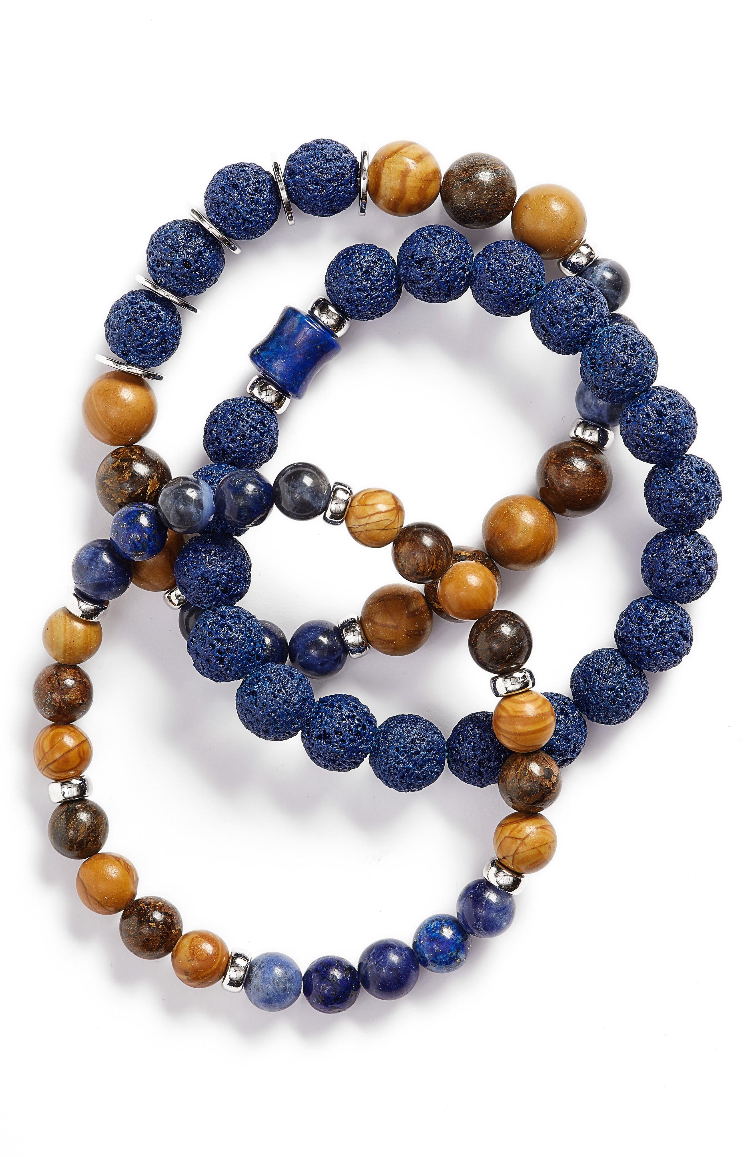 Men/'s Bracelet Set Male Men/'s Jewelry Husband Gift Men/'s Beaded Bracelet Men/'s Gift Men/'s Chain Bracelet Men/'s Silver Bracelet