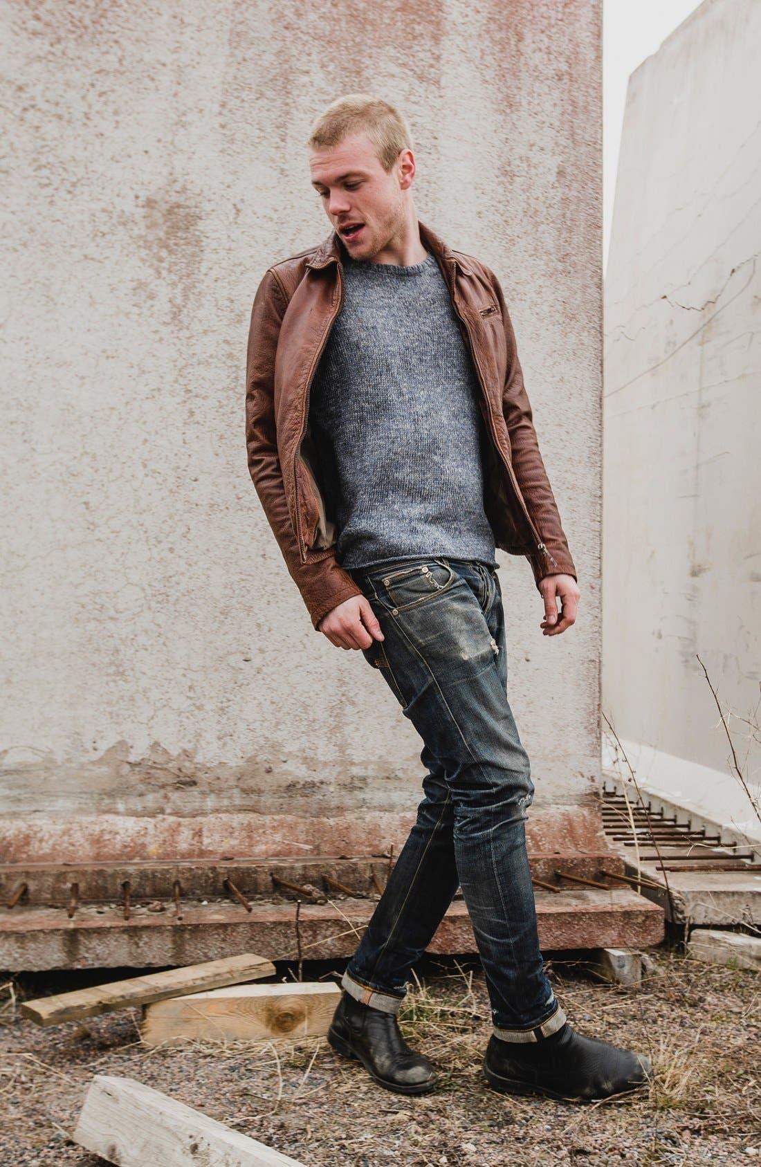 Alternate Image 6  - Nudie 'Grim Tim' Slim Fit Jeans (Organic Dry Navy)