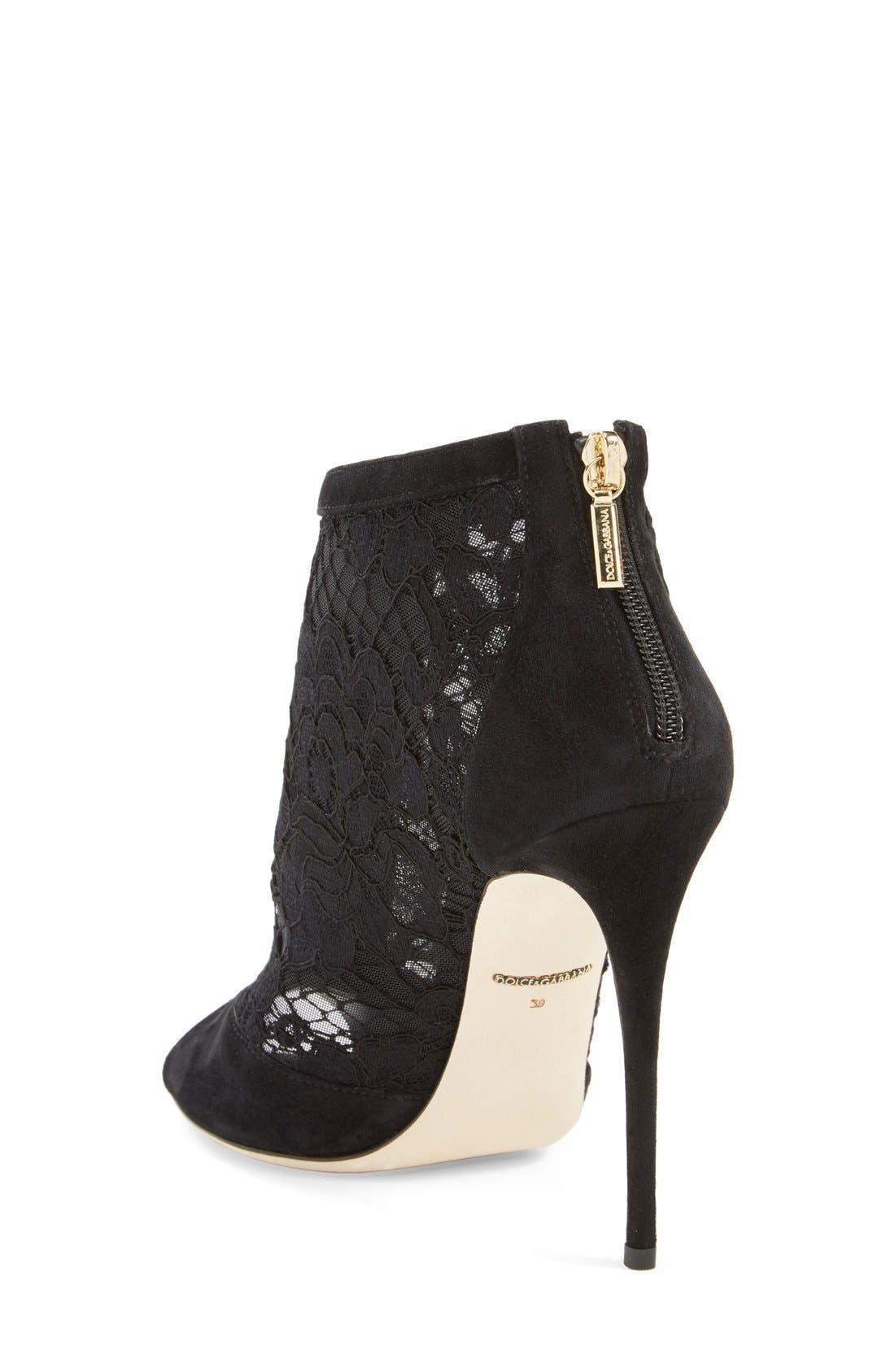 Alternate Image 2  - Dolce&Gabbana Peep Toe Bootie (Women)