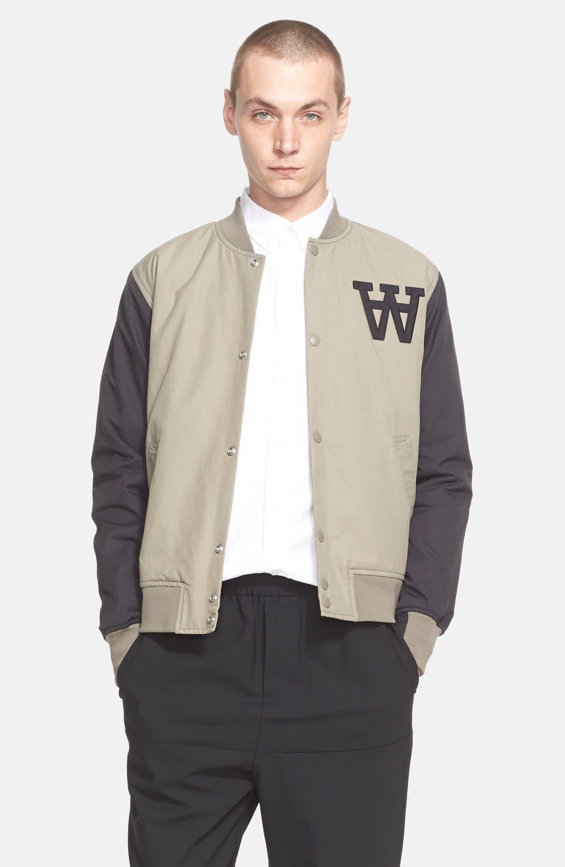 Main Image - Wood Wood 'Billie' Varsity Jacket