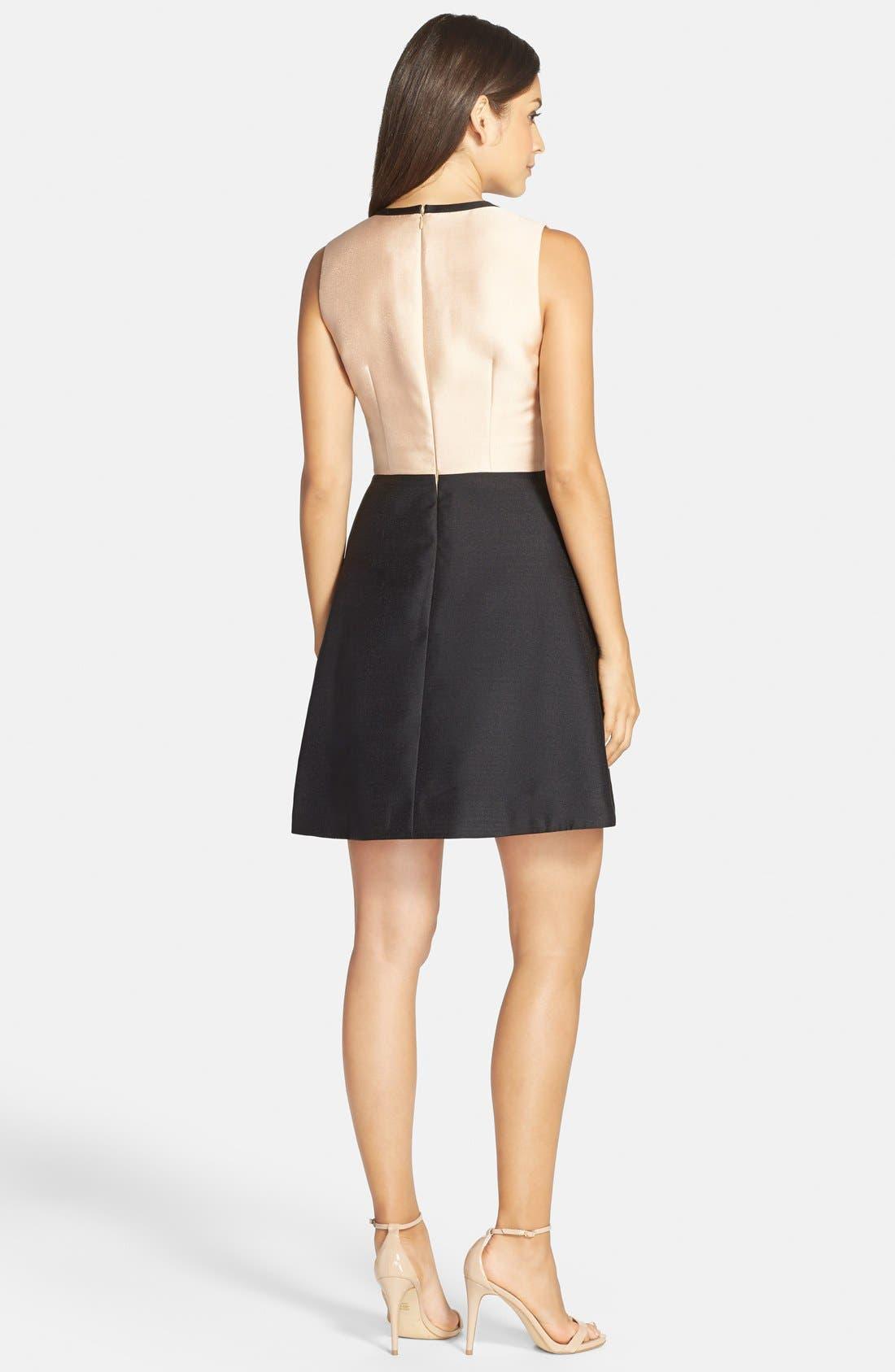 Alternate Image 2  - ERIN erin fetherston 'Eliza' Colorblock Twill Fit & Flare Dress