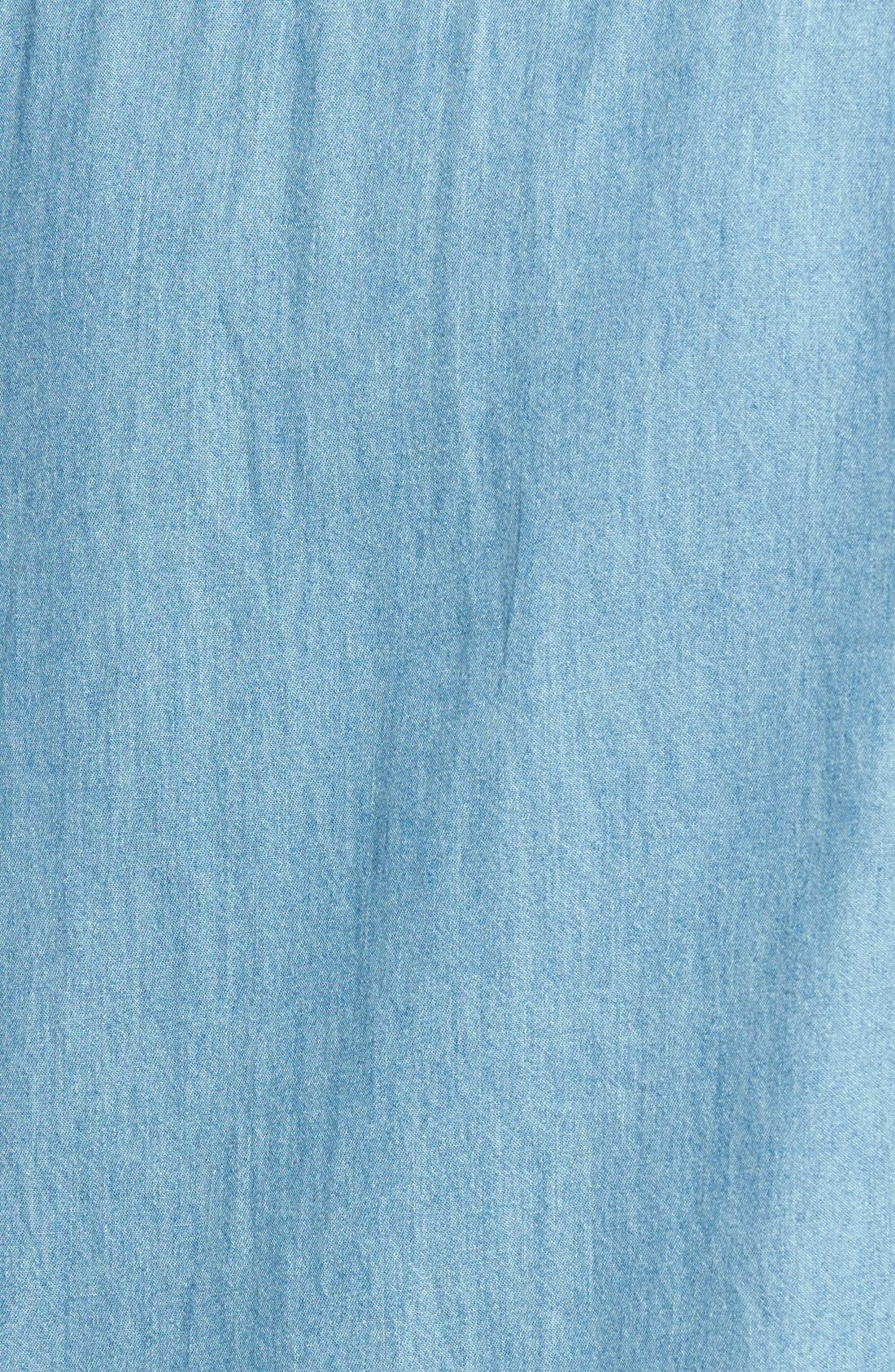 'Golden State' Chambray Shirt,                             Alternate thumbnail 3, color,                             Blue