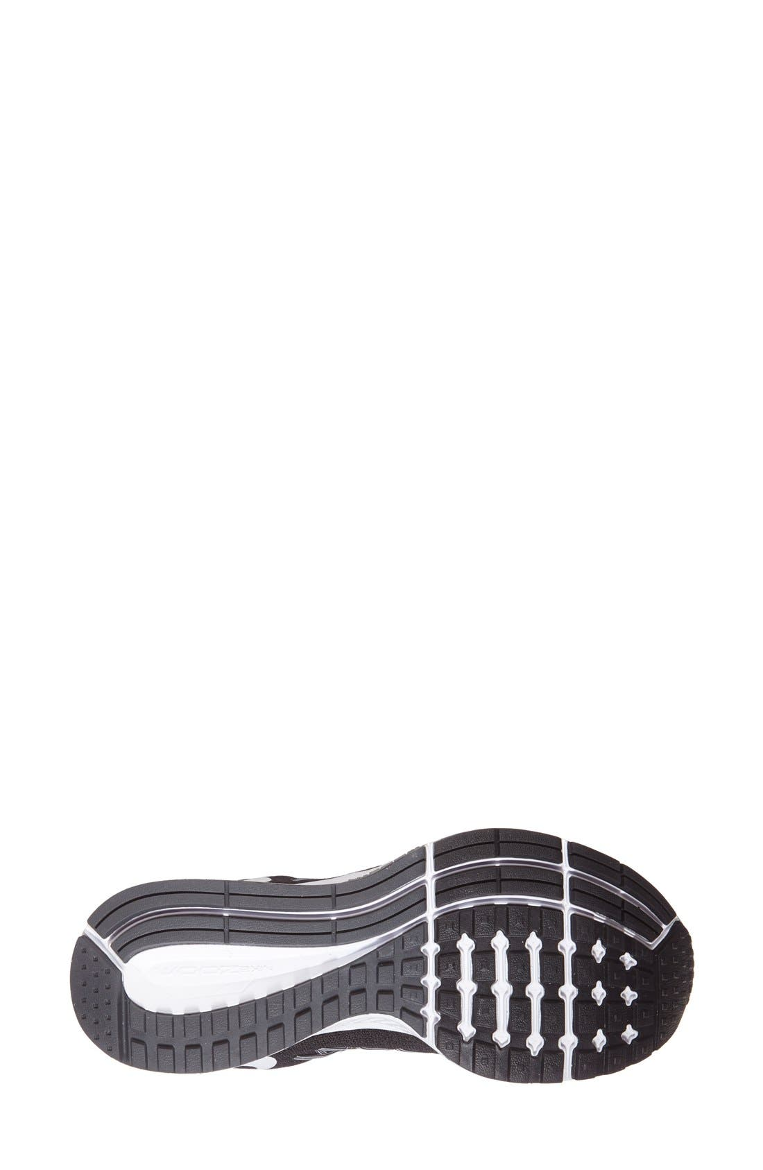 'Zoom Pegasus 32' Running Shoe,                             Alternate thumbnail 4, color,                             Black/ White/ Pure Platinum