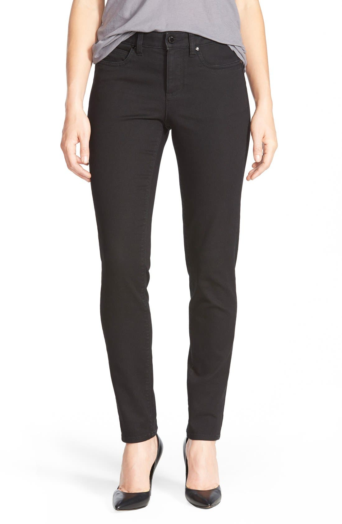 Stretch Skinny Jeans,                         Main,                         color, Noire Denim