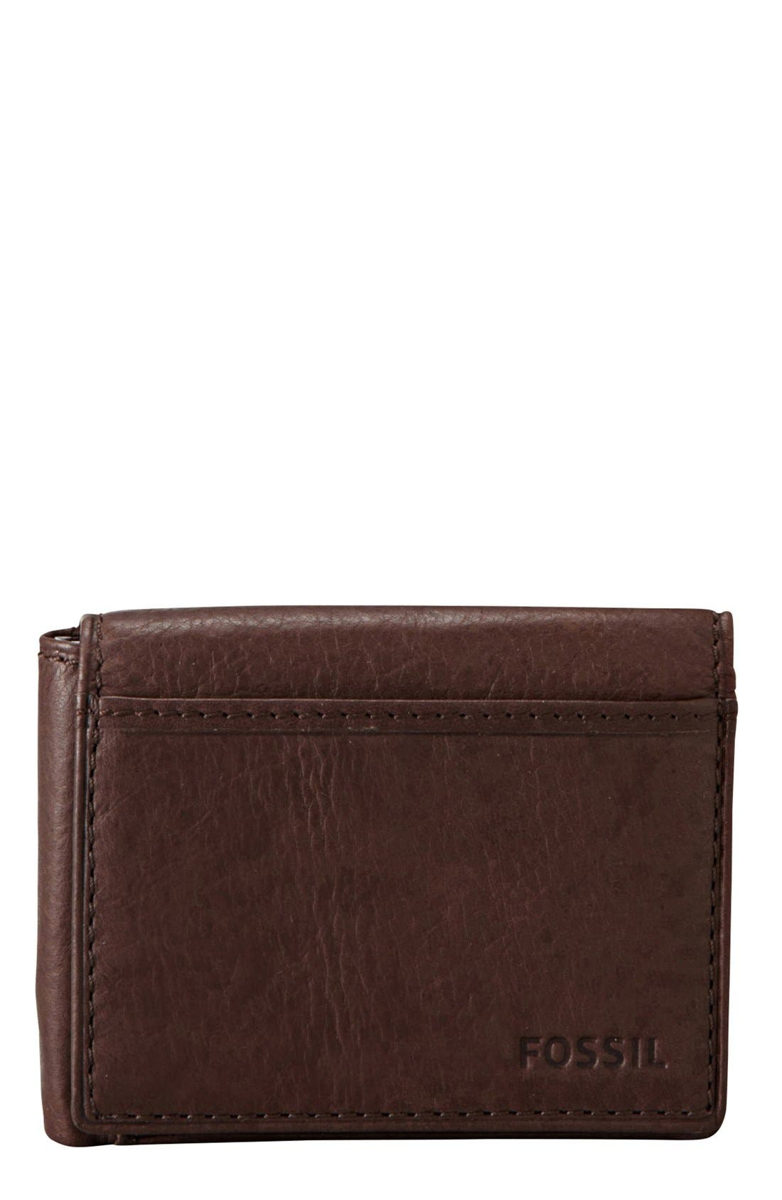 Alternate Image 1 Selected - Fossil 'Ingram' Leather Flip Trifold Wallet