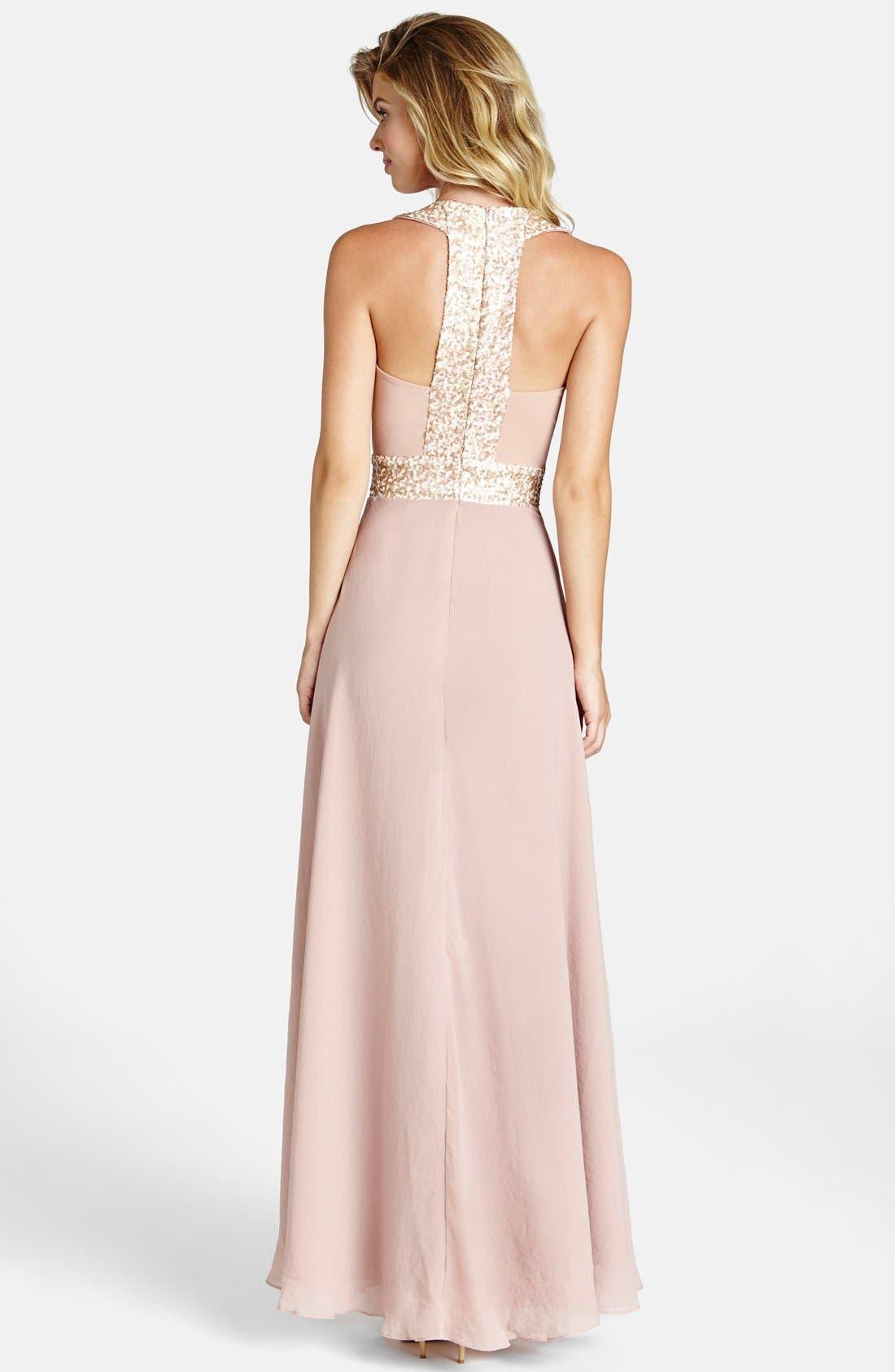 Alternate Image 2  - Dress the Population Delani Crepe Gown