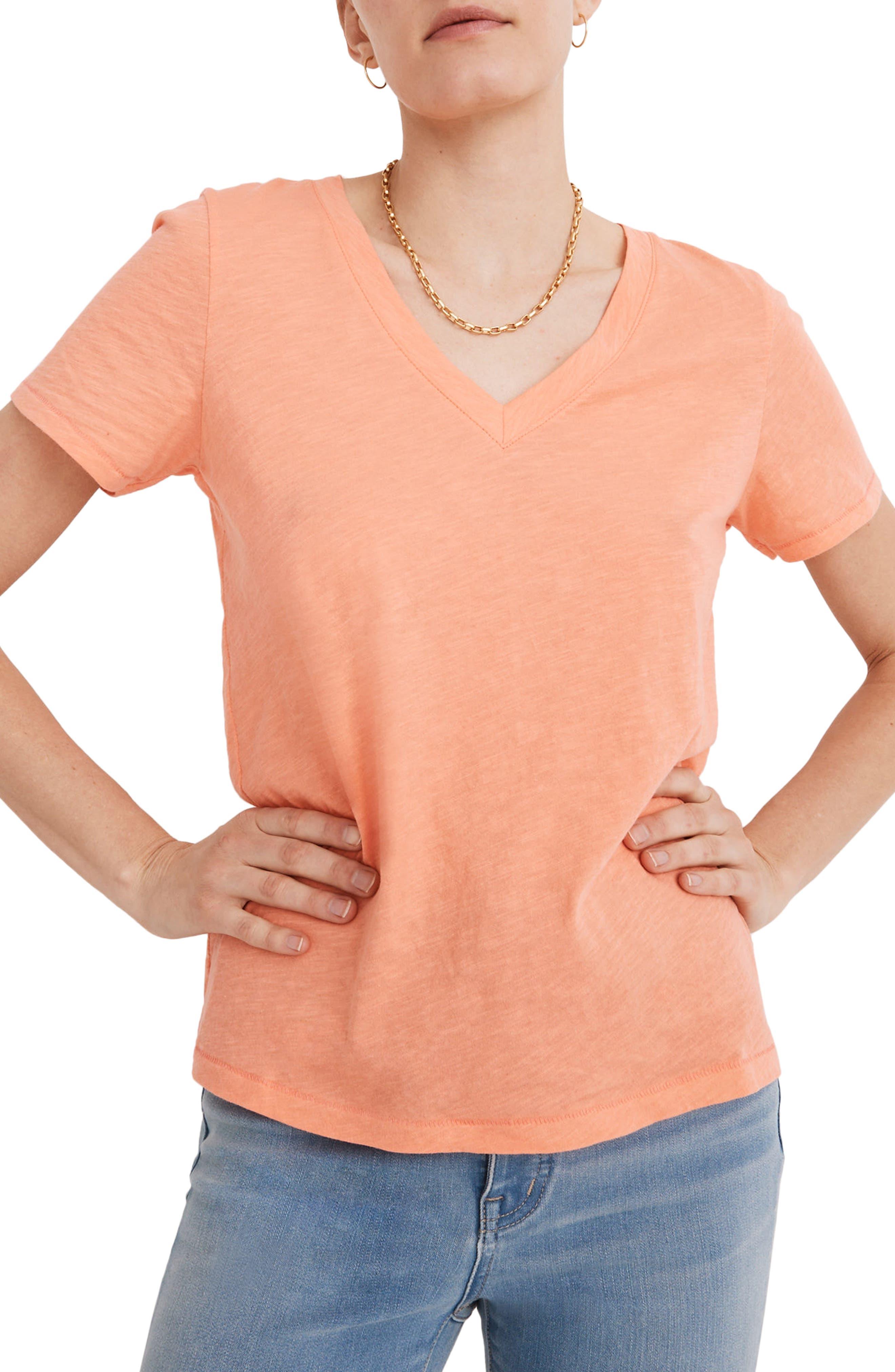 The Tania top in burnt orange twill