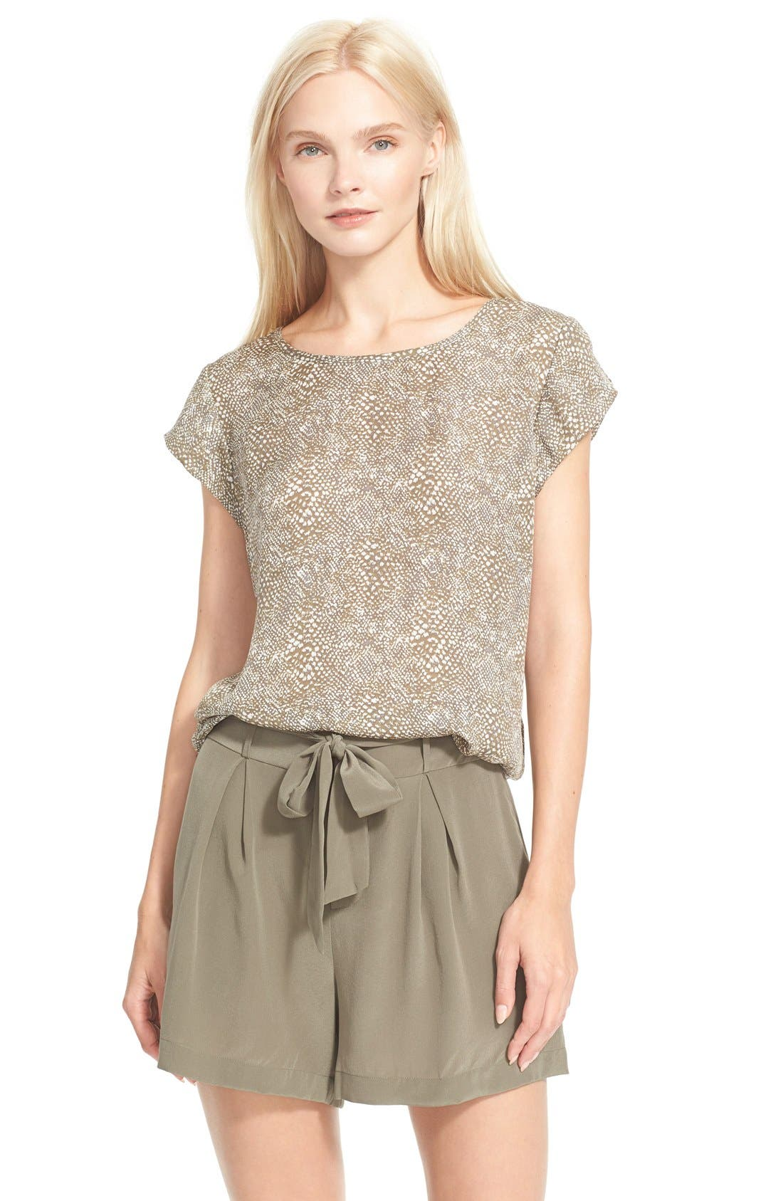Alternate Image 1 Selected - Joie 'Rancher B' Print Silk Top