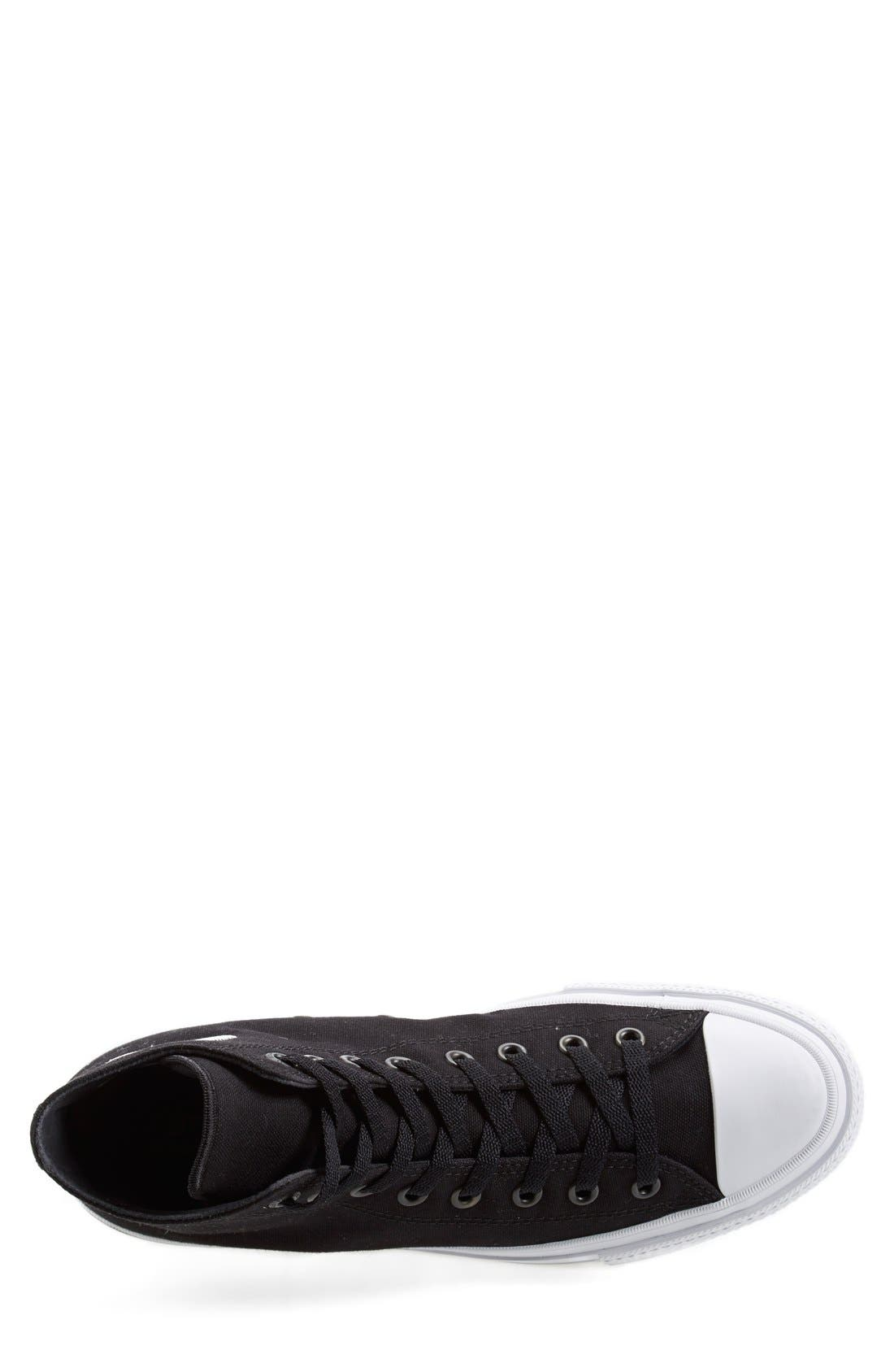Chuck Taylor<sup>®</sup> All Star<sup>®</sup> Chuck II High Top Sneaker,                             Alternate thumbnail 5, color,                             Black/ White/ Navy Canvas