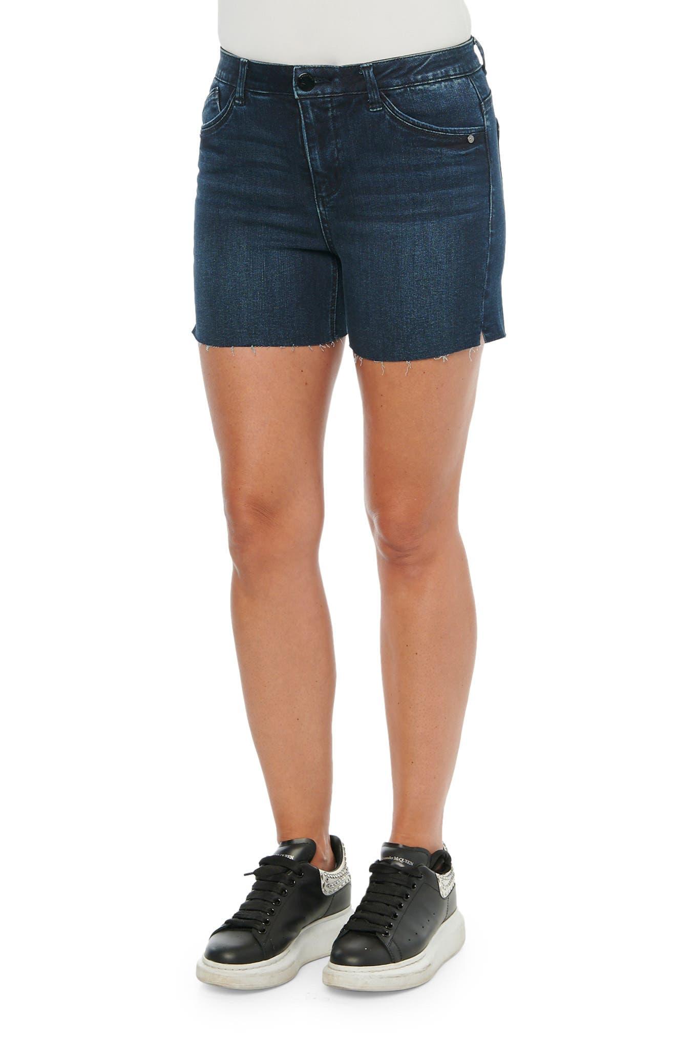 Men Boyfriend shorts LONDON Navy Blue High Waist Shorts Double Belt High Waisted Shorts Unisex