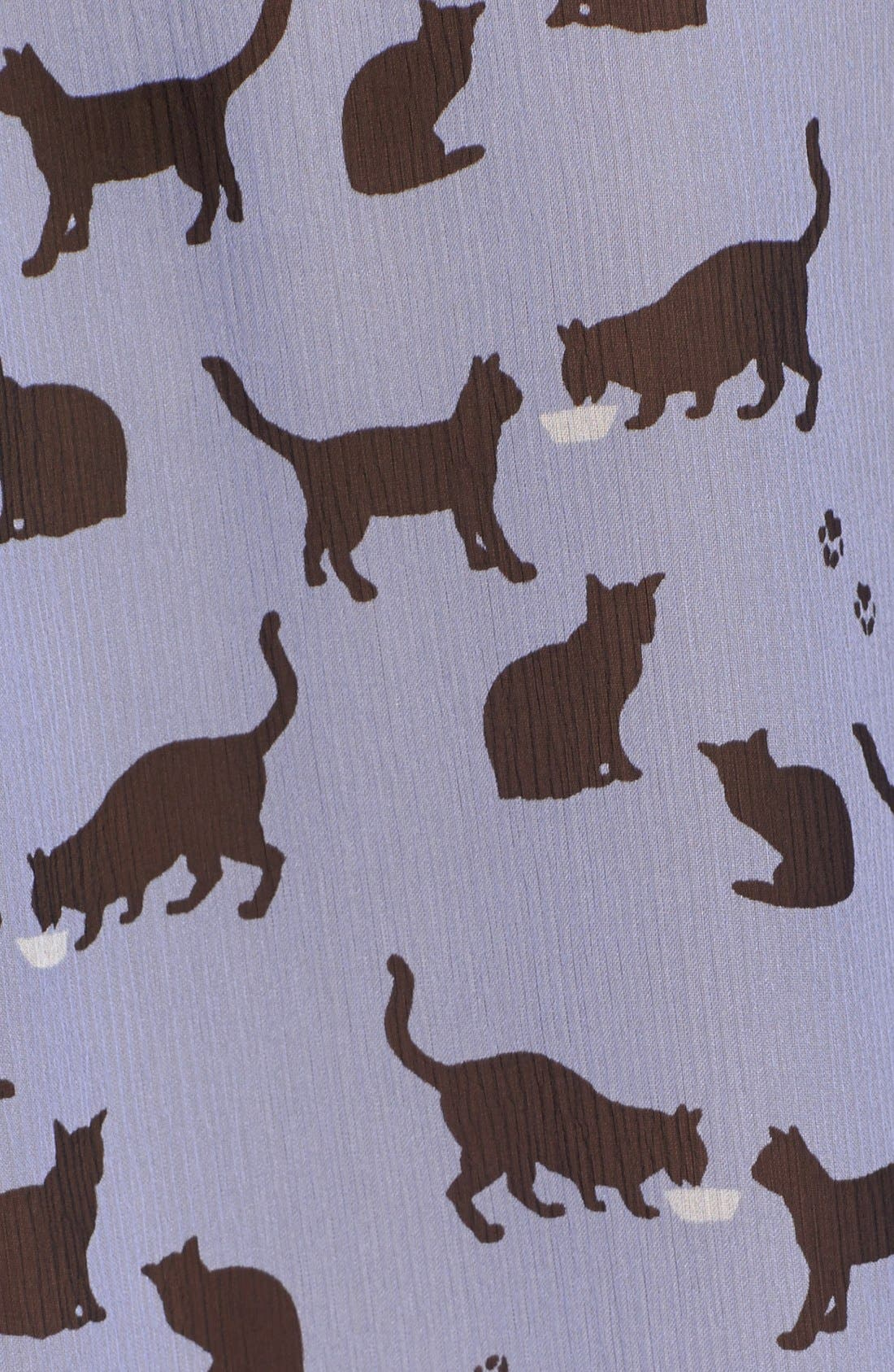 Alternate Image 3  - kate spade new york 'cats and cream' silk chiffon shirt