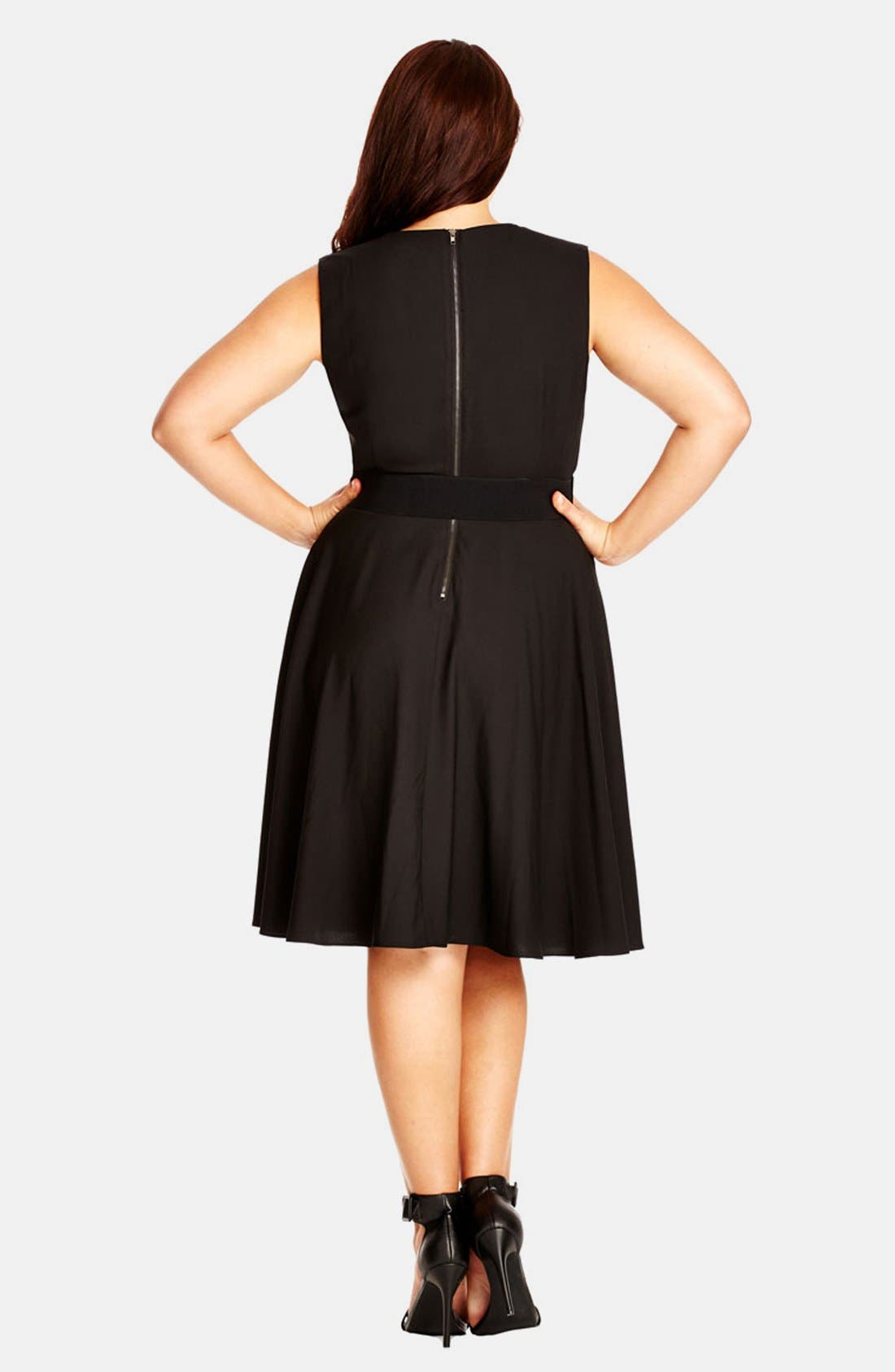 'Vintage Veroni' Fit & Fare Dress,                             Alternate thumbnail 2, color,                             Black
