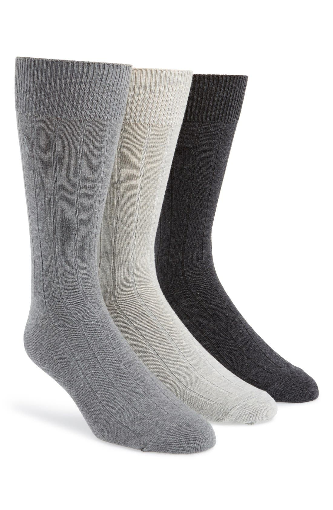 Alternate Image 1 Selected - Polo Ralph Lauren 3-Pack Crew Socks