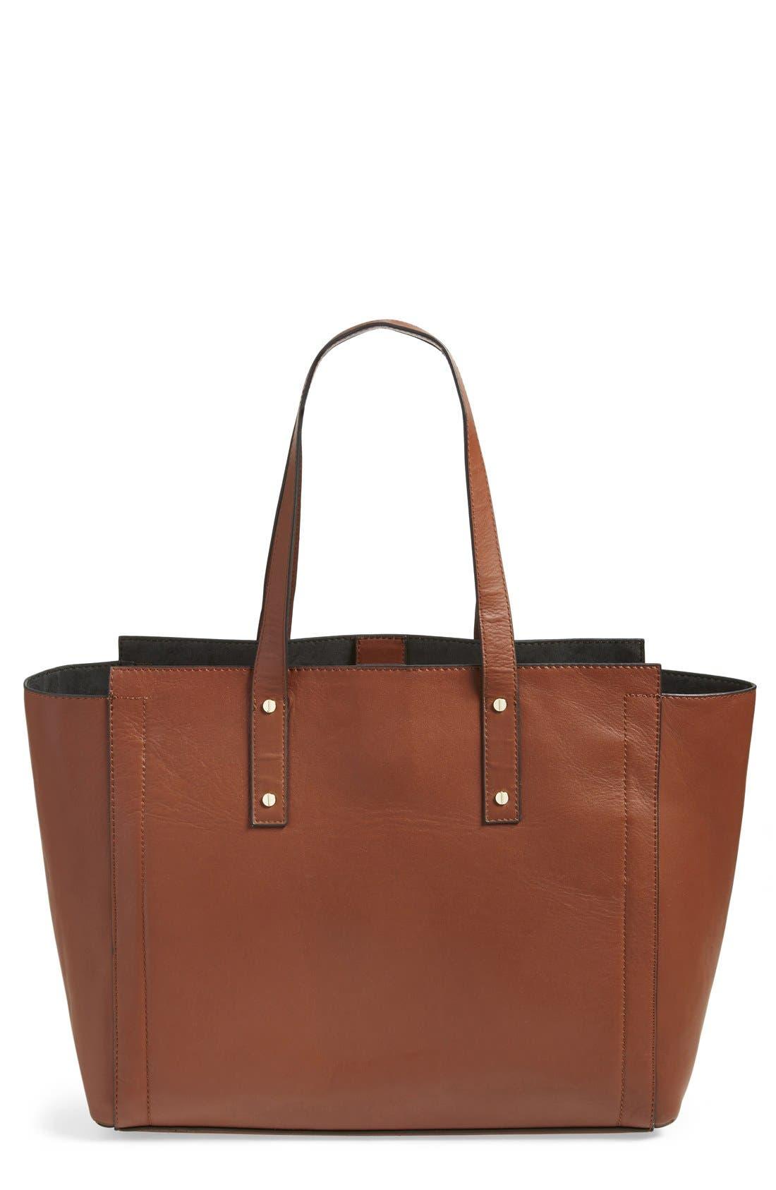 'Soho' Leather Tote,                         Main,                         color, Luggage